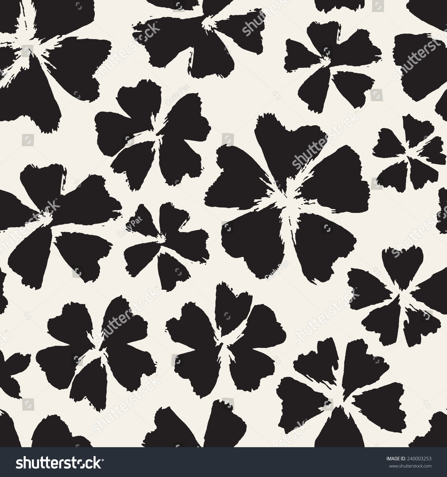 Vector Seamless Pattern Abstract Background Flowers Stock