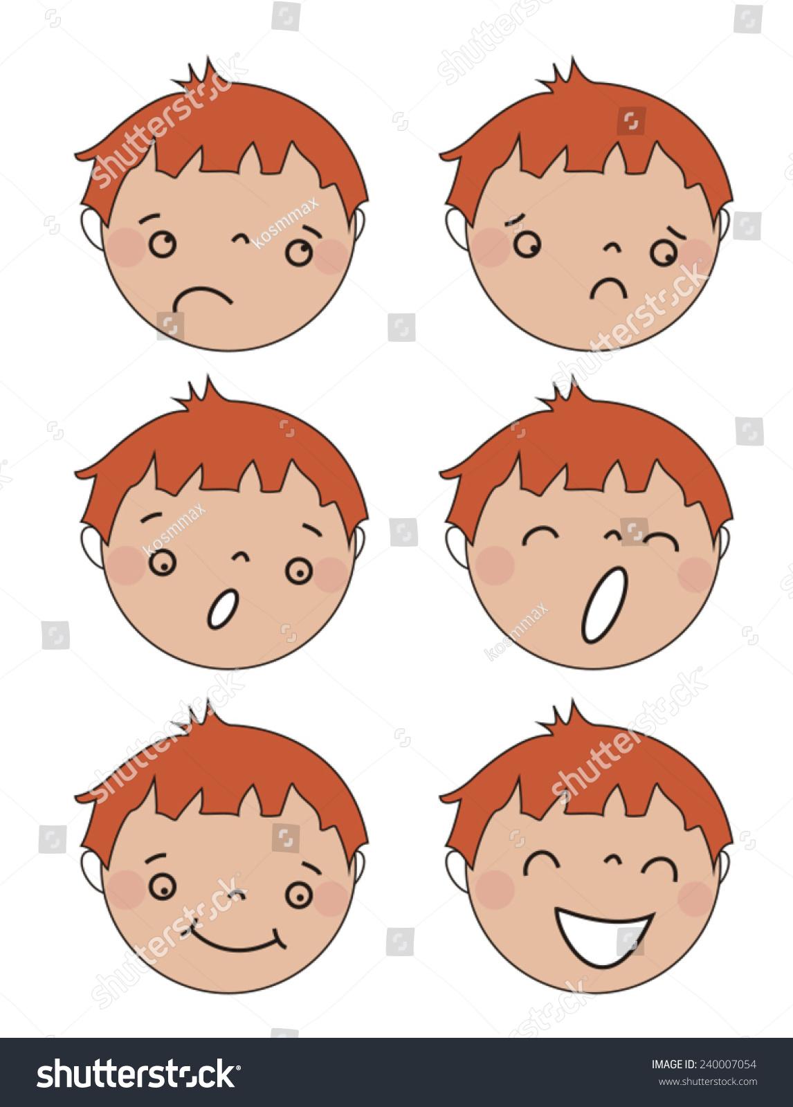Funny Cartoon Images Of Boys funny cartoon faces vector boys stock vector (royalty free