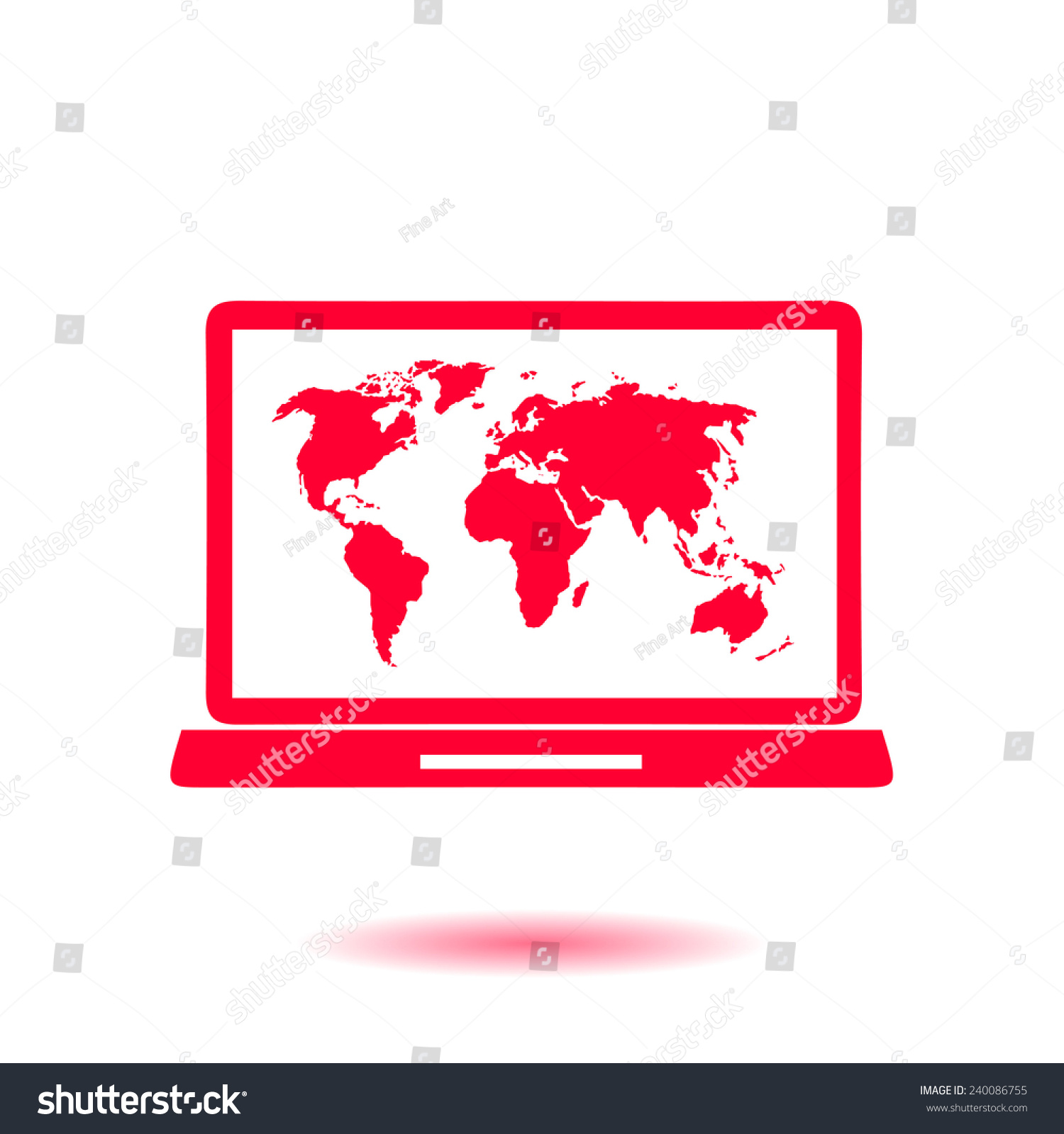 Laptop world map illustration world map stock vector 240086755 laptop world map illustration world map stock vector 240086755 shutterstock gumiabroncs Images