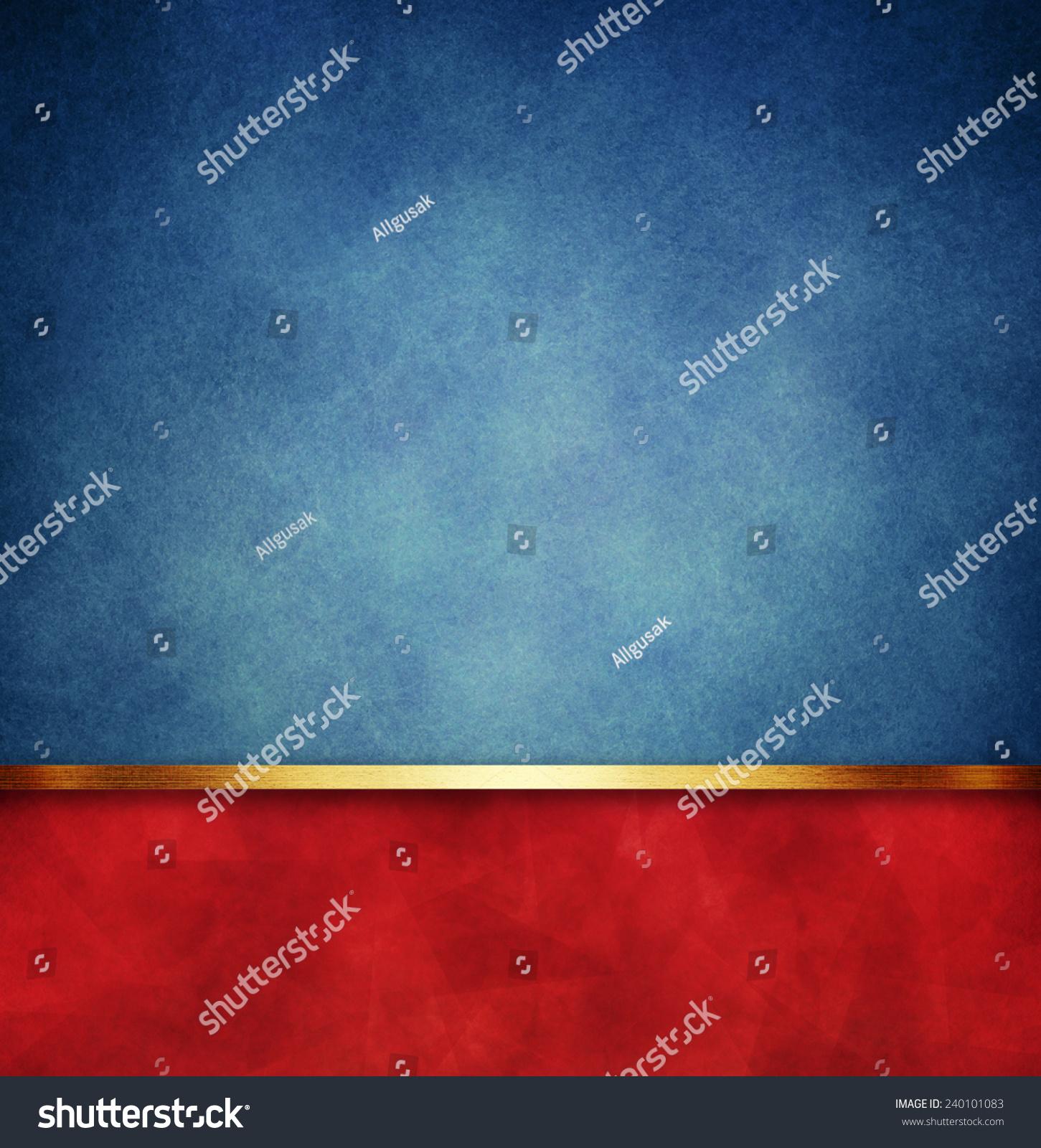 Vintage Blue Paper Background Red Gold Stock Illustration ...