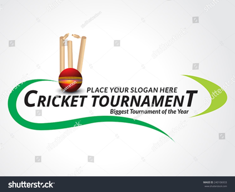 Cricket Tournament Banner Background Vector Illustration Stock Vector 240106933 - Shutterstock