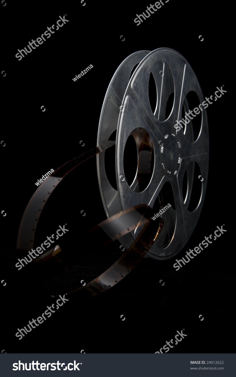 Film Reel On Black Background Stock Photo 24012622 ...