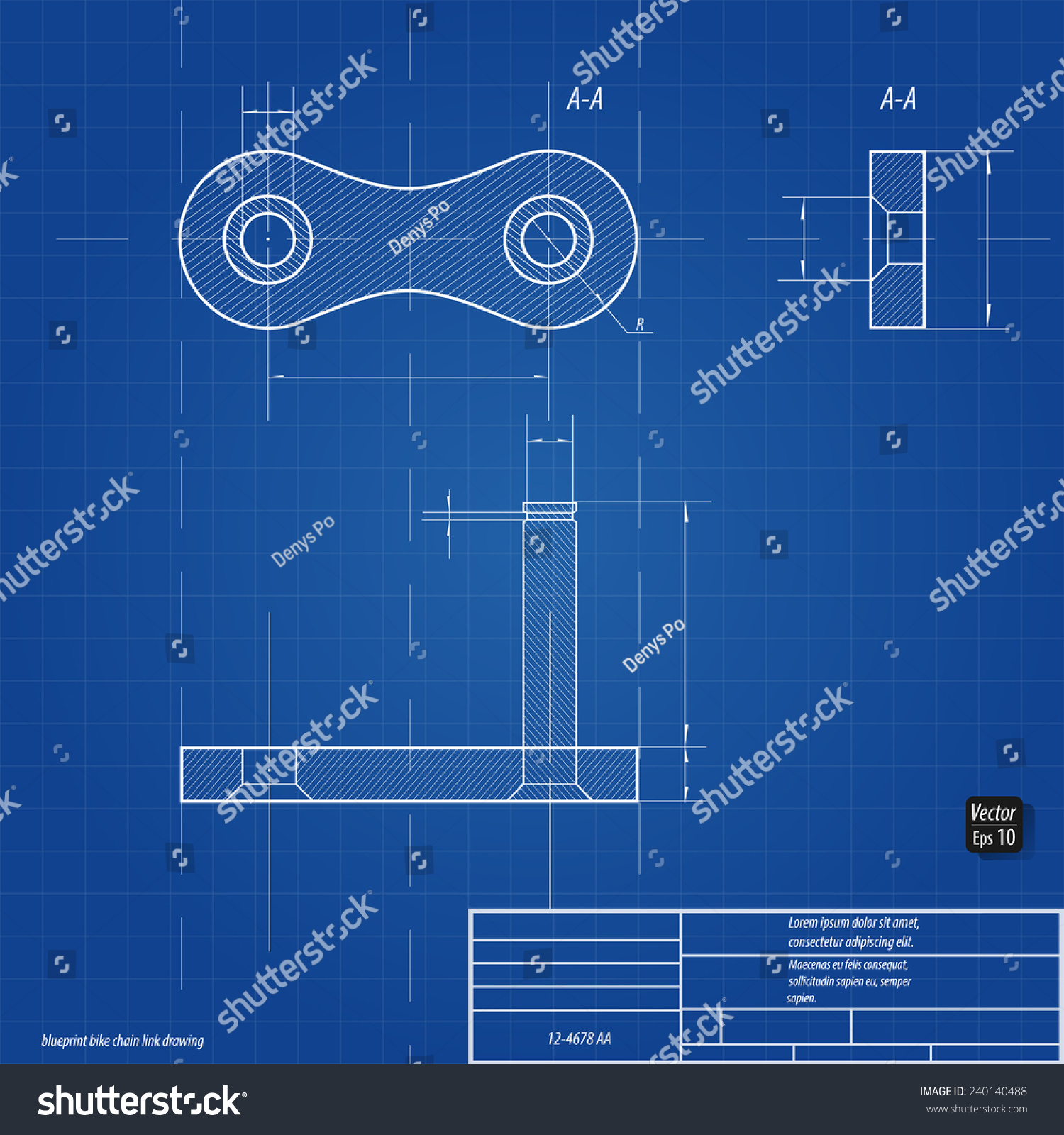 Blueprint bike chain link drawing eps vectores en stock 240140488 blueprint bike chain link drawing eps 10 malvernweather Image collections