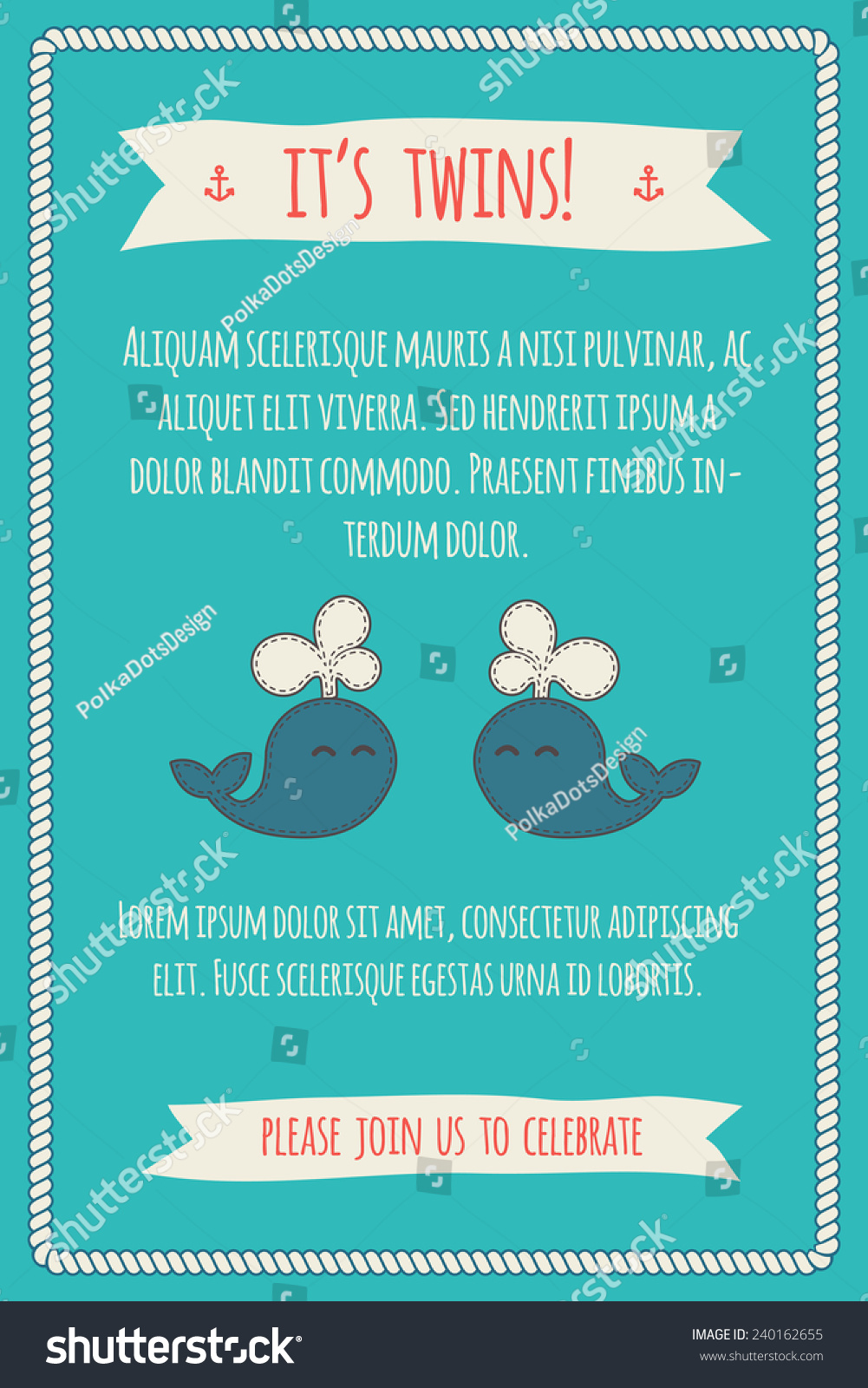 Baby Shower Invitation Template Illustration Two Stock Vector ...