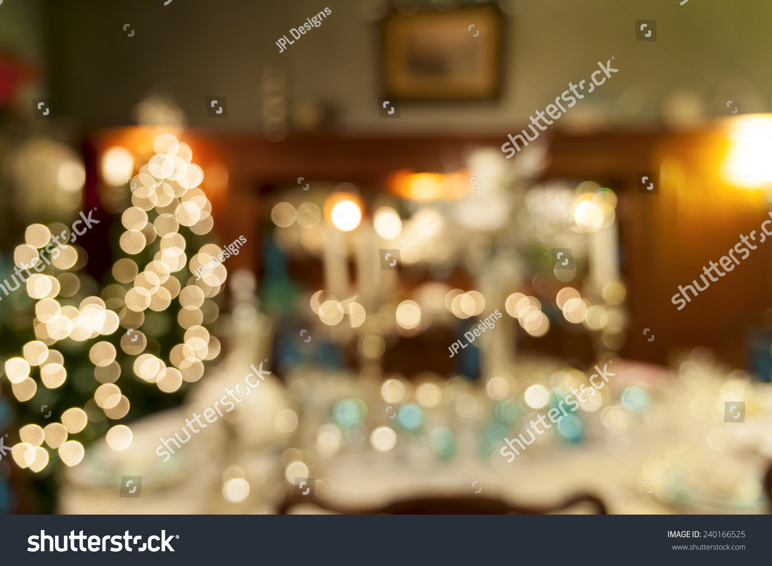 Christmas Day Holiday Celebration Dinner Table Stock Photo Edit Now 240166525