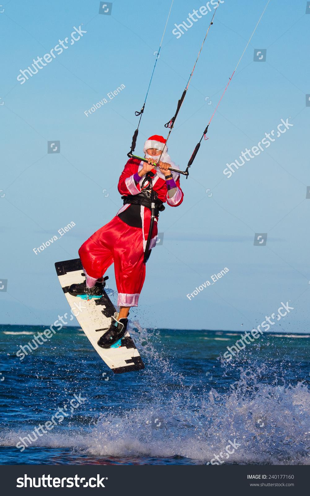 Young Man On Kite Costume Santa Stock Photo Edit Now 240177160