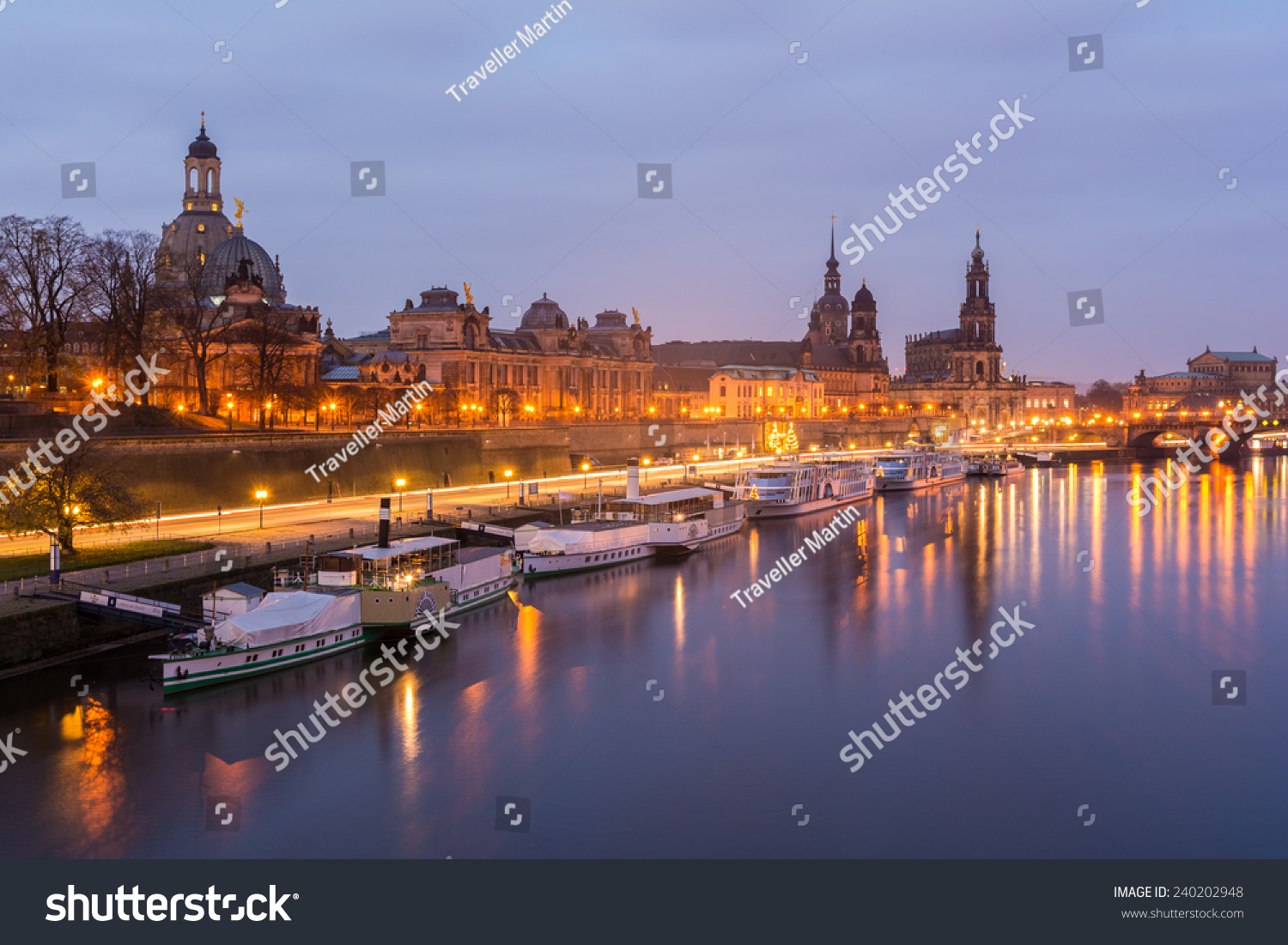 the skyline of dresden in winter stock photo 240202948. Black Bedroom Furniture Sets. Home Design Ideas