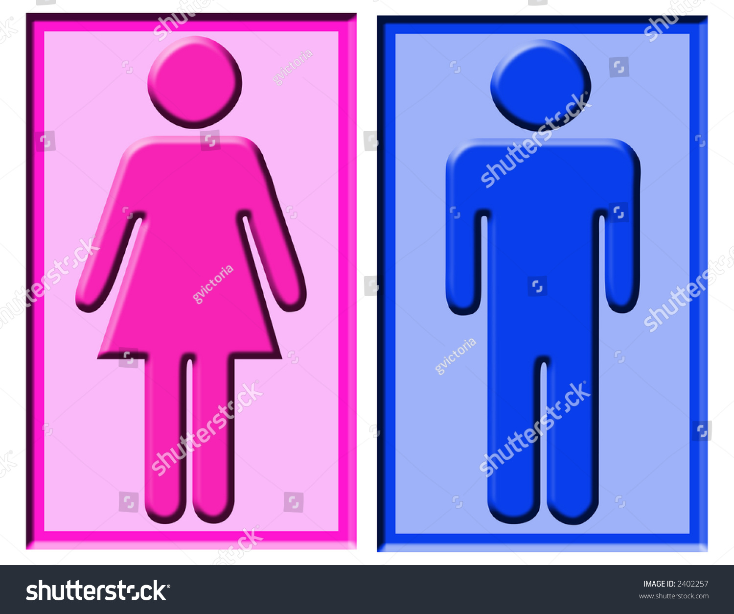 Boy Girl Symbols Usually Found On Stock Illustration 2402257