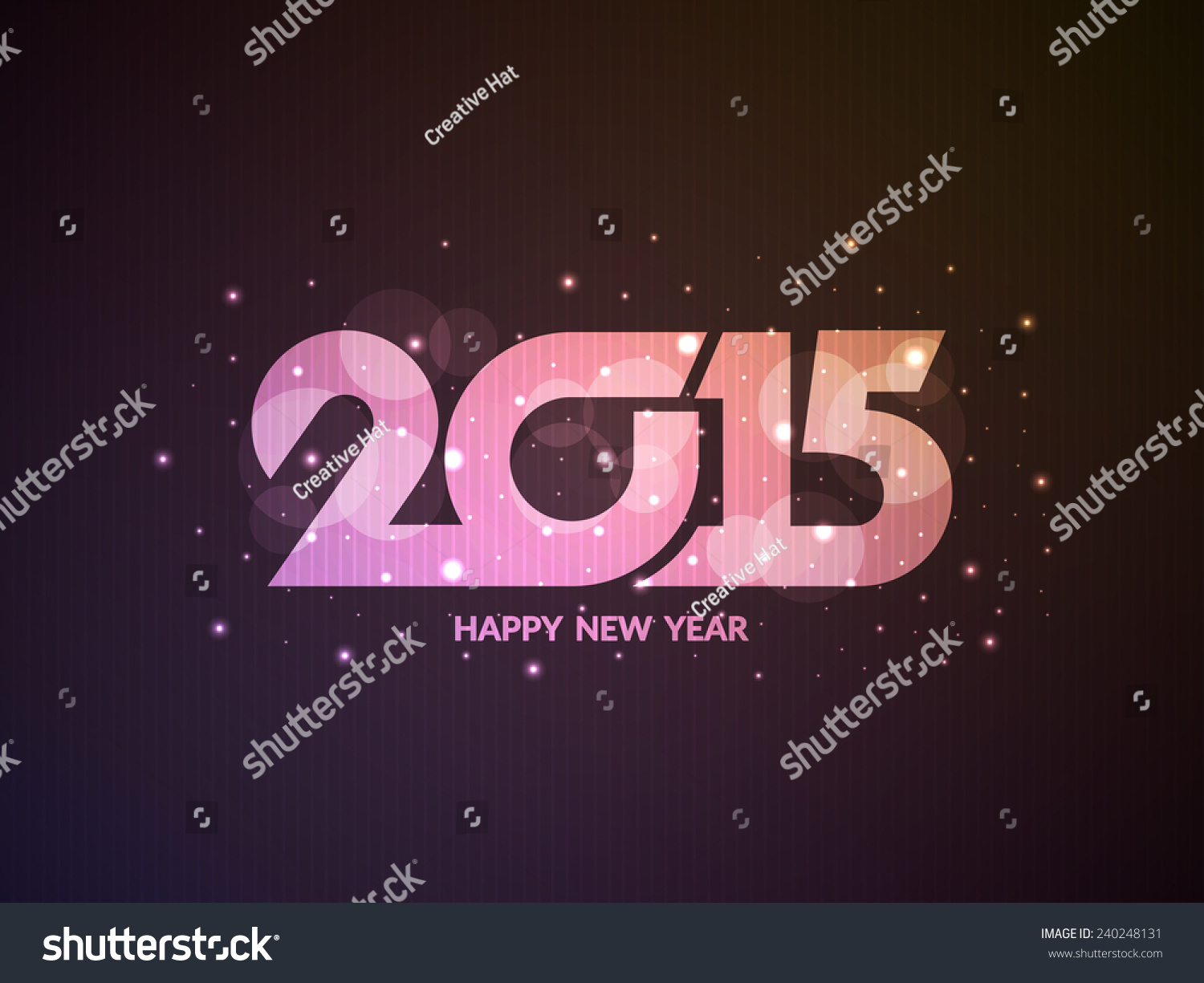 Glittering Card Design Happy New Year Stock Vector Royalty Free