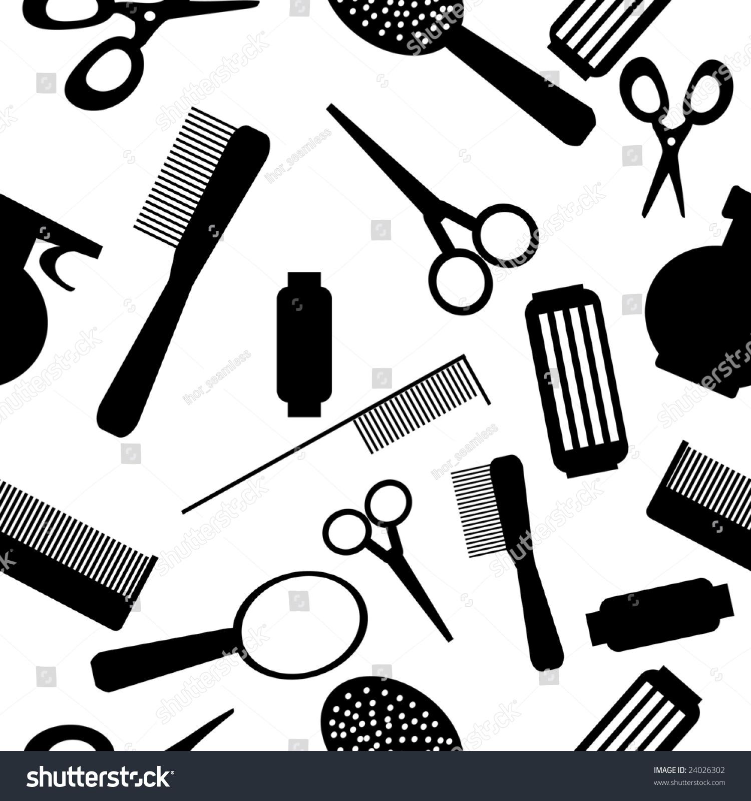 Nails Art Beauty Salon Background Stock Vector: Vector Seamless Beauty Salon Background Pattern Stock