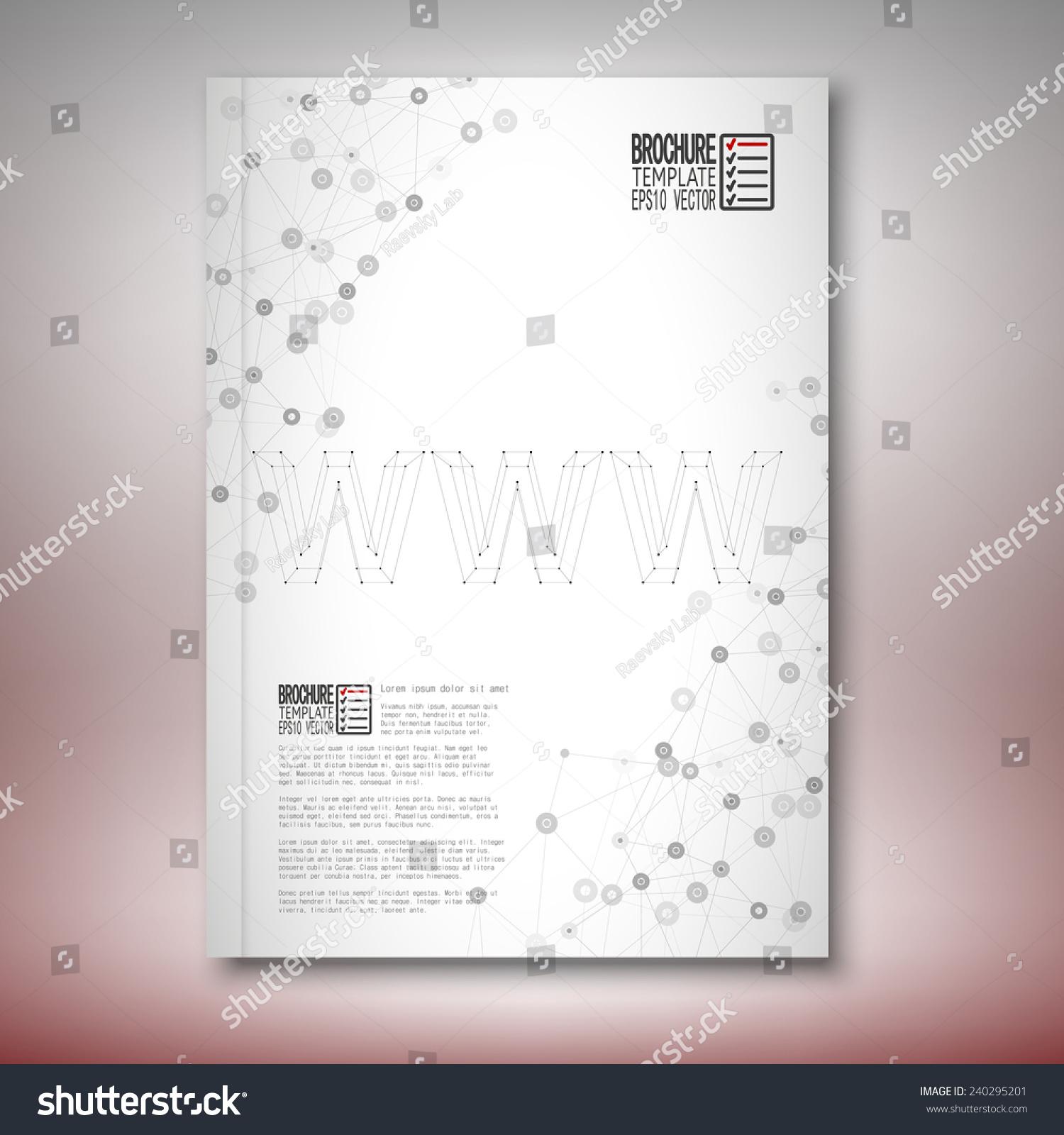 Three Dimensional Mesh Stylish Word Brochure Stock Vector Royalty
