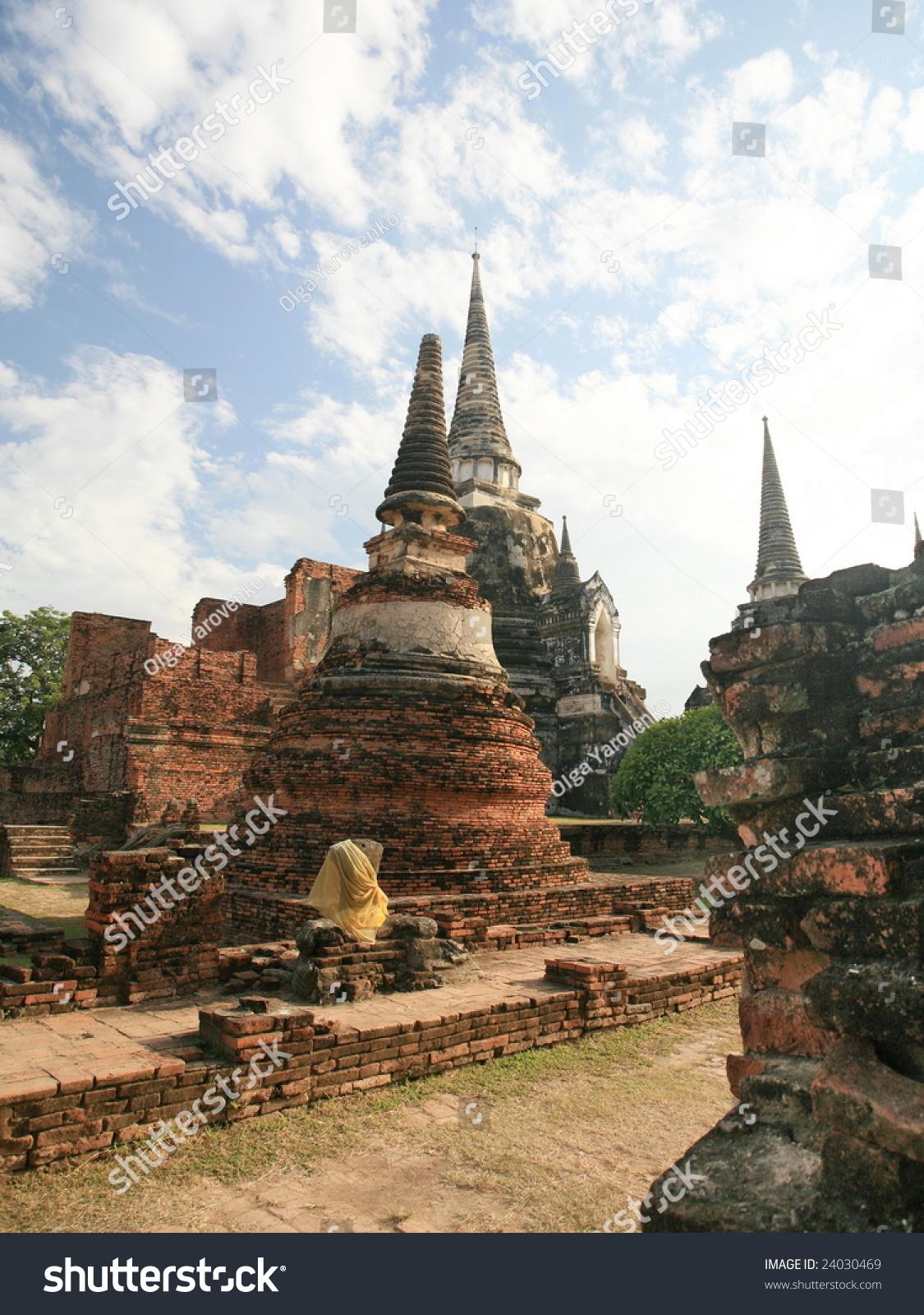 ayutthaya ancient capital thailand stock photo 24030469. Black Bedroom Furniture Sets. Home Design Ideas