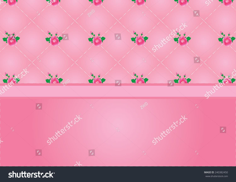 Vintage Wallpaper Pink Rose On 240382450