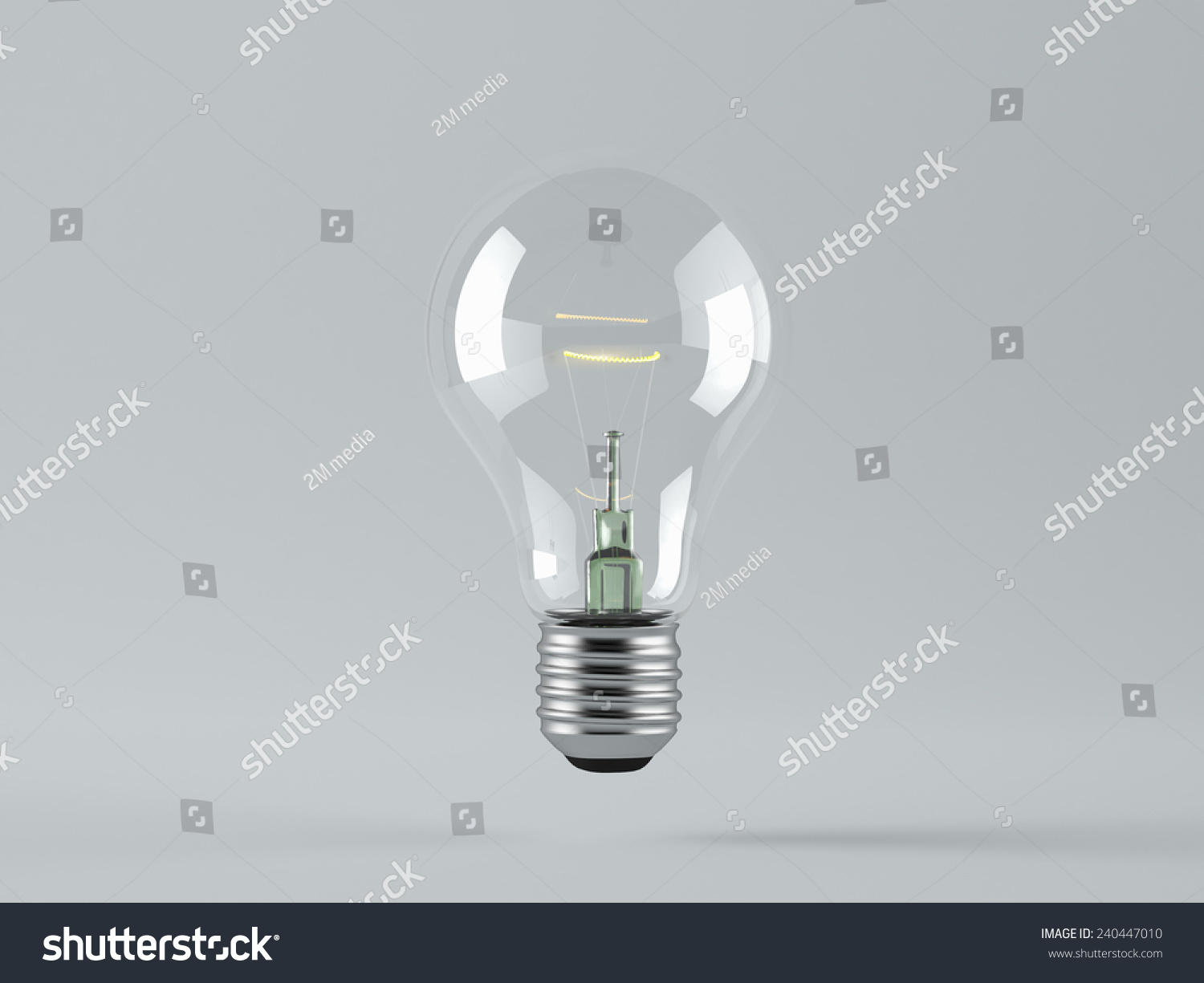 Light Bulb On Color Background Concept Stock Photo (Royalty Free ...