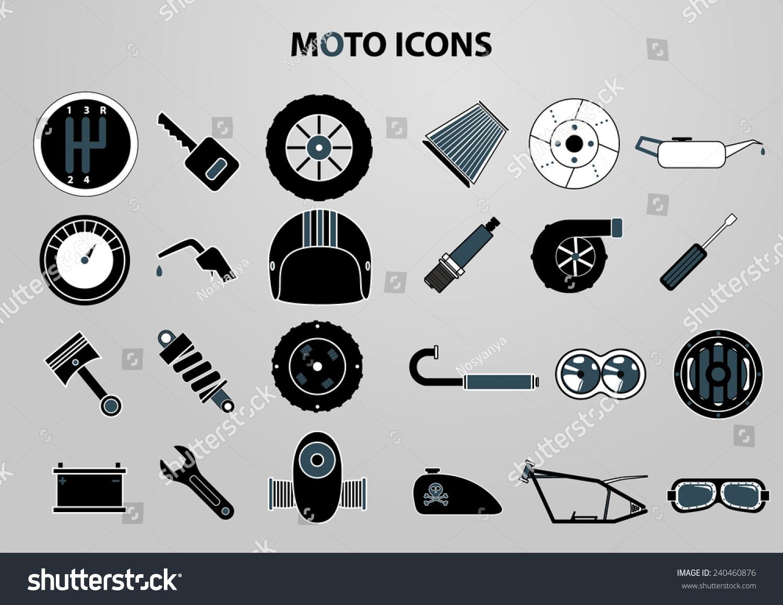 Motorcycle Parts Vecto...
