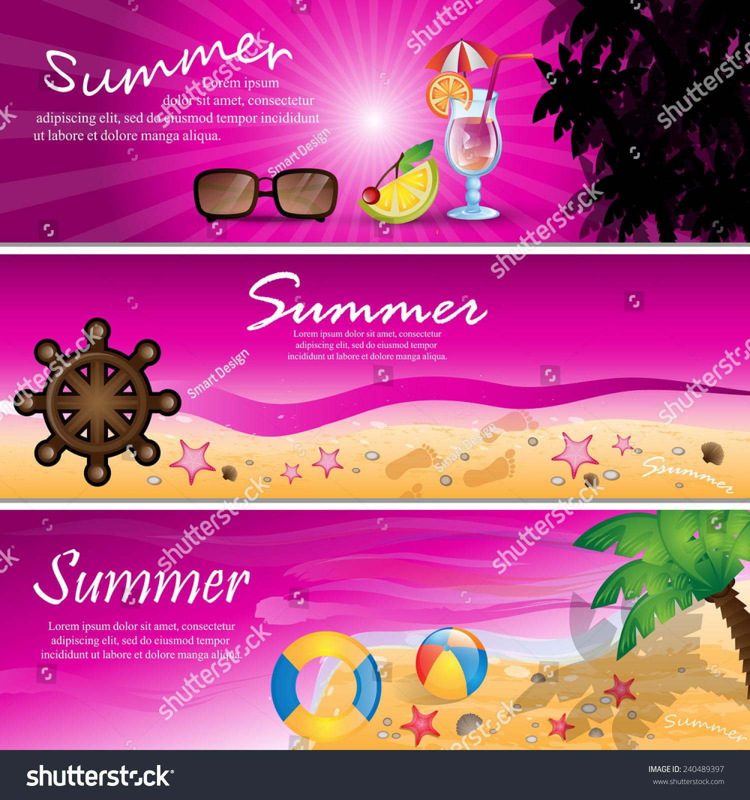 Summer Flyer Template Stock Illustration Image 49302930 ìu2014¬ë¦u201e Stock Vector  Summer