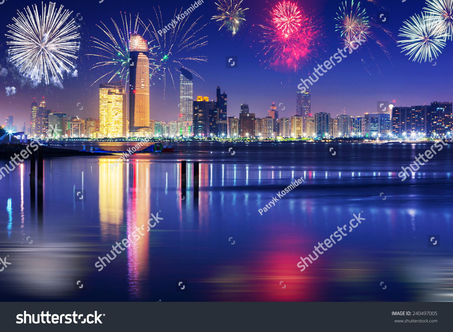 New Year Fireworks Display In Abu Dhabi, Uae Stock Photo 240497005 : Shutterstock