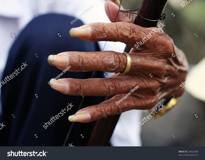 Chinese Man Playing Erhu Long Finger Stock Photo (Edit Now) 24053308 ...