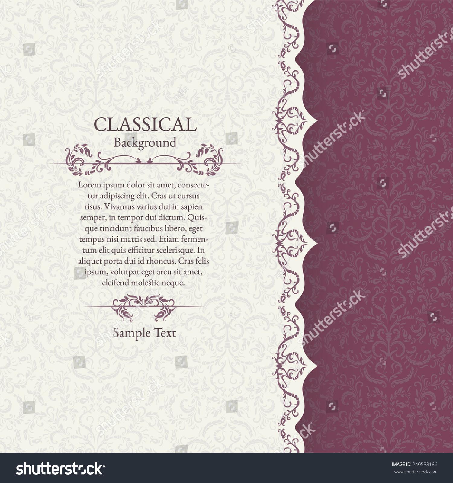 Print Invitation Card Wedding Invitation Stock Vector 240538186 ...