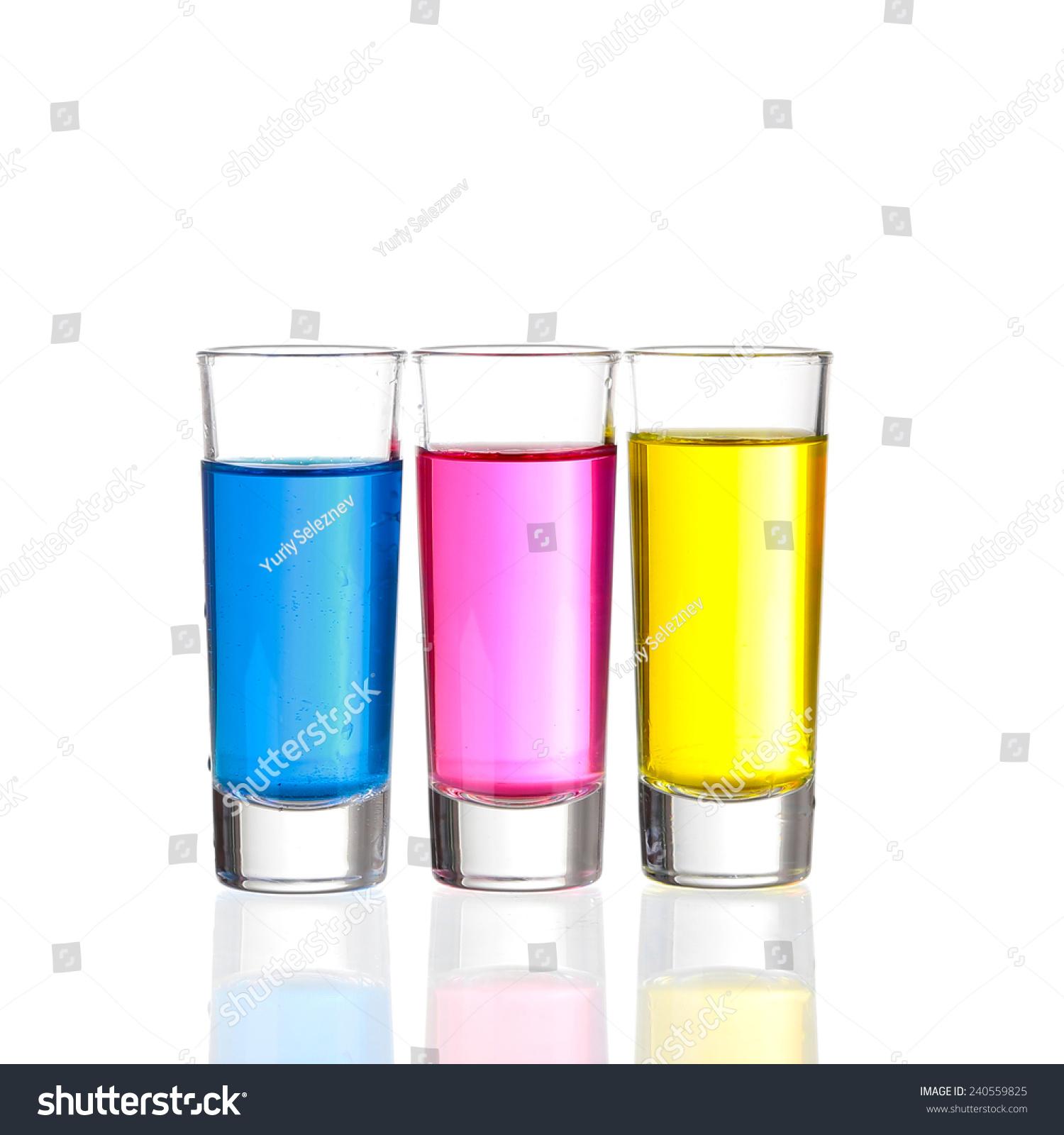 Shots Three C Shot Drinks On Stock Photo Edit Now 240559825