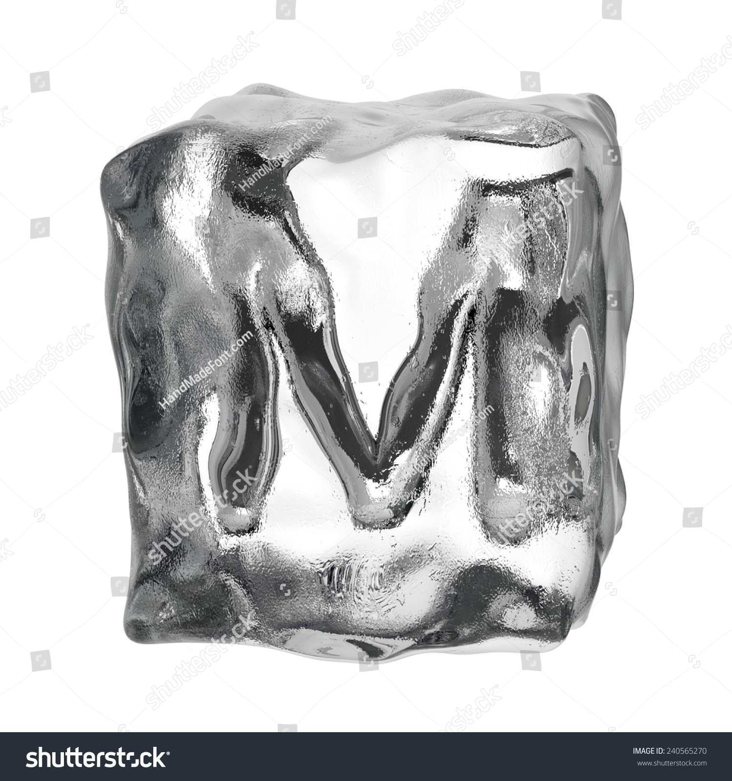 How to draw ice cube letters