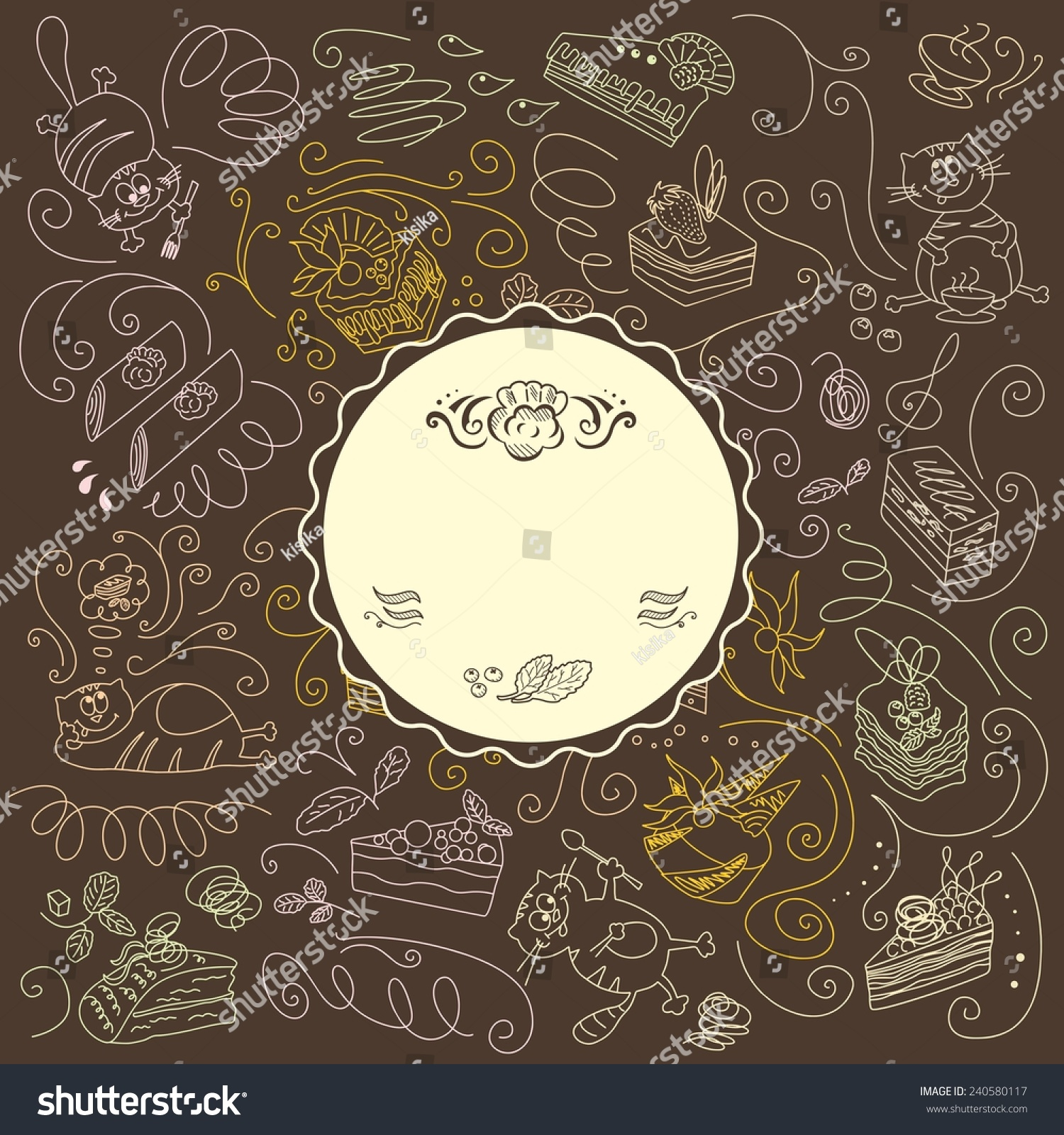menu template cats sweets vintage menu stock vector (royalty free