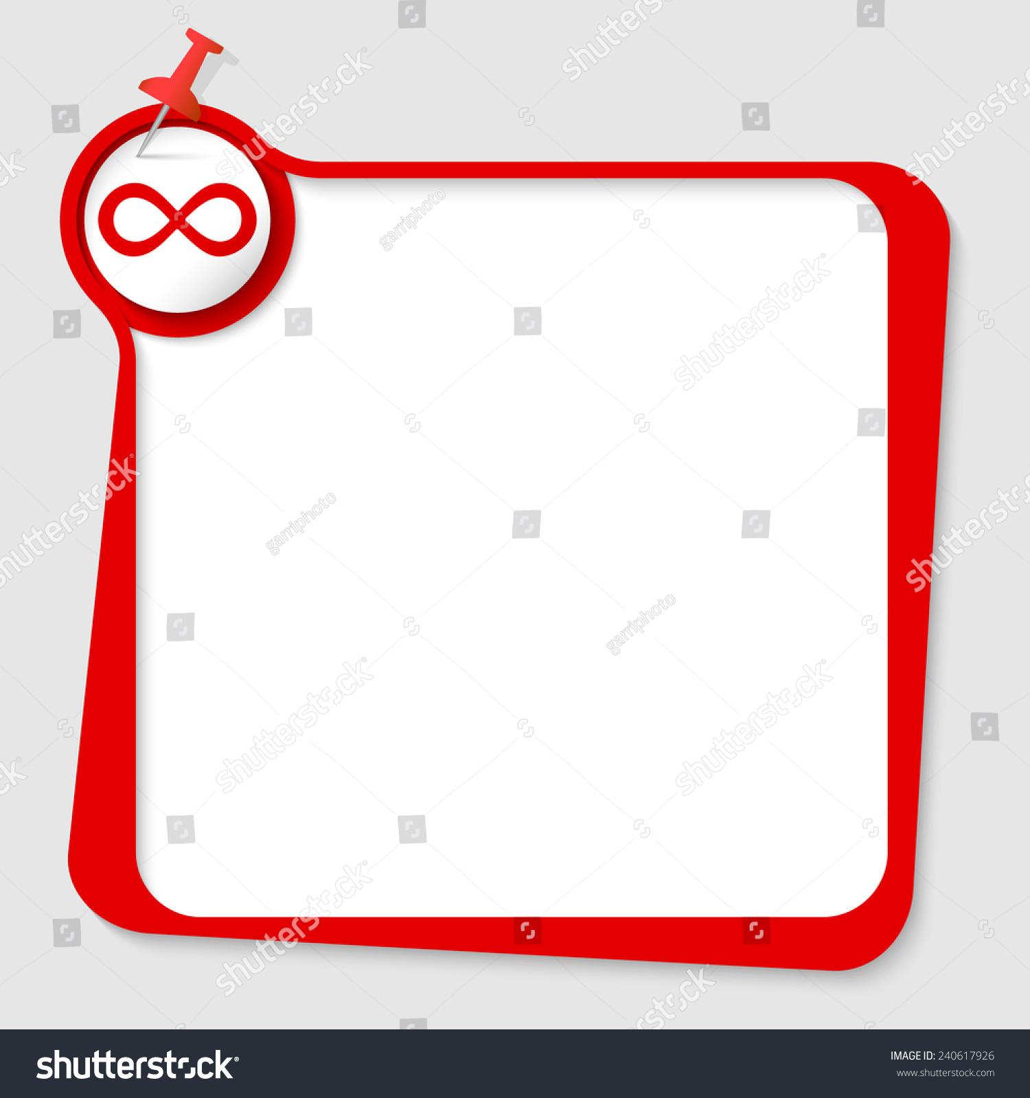 Text box pushpin infinity symbol stock vector 240617926 shutterstock text box with pushpin and infinity symbol biocorpaavc