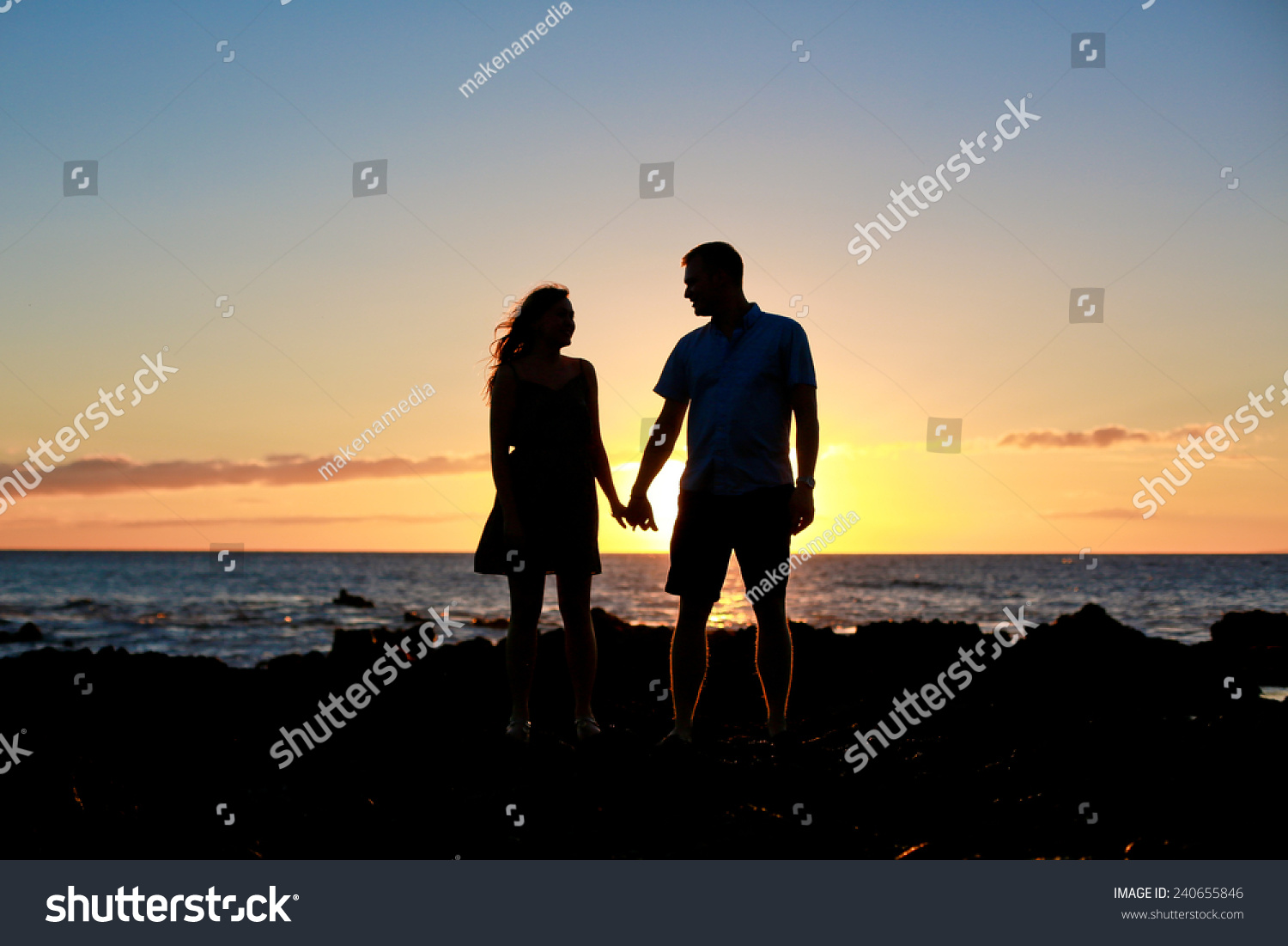 Silhouette Couple Holding Hands Sunset Stock Photo 240655846 ... for Couple Holding Hands Silhouette Sunset  565ane