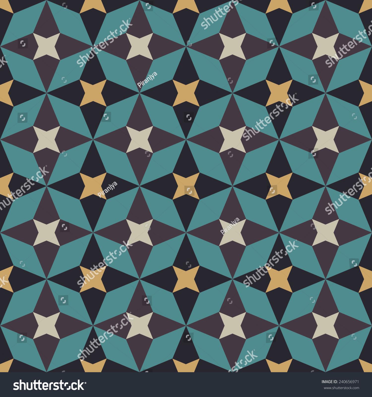 Traditional Arabian Seamless Pattern Islamic Geometrical Stock ...