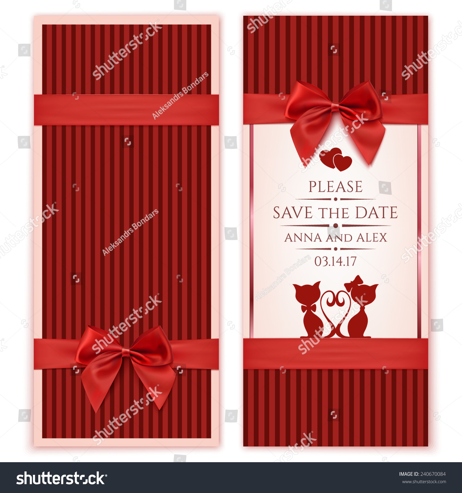 Save Date Wedding Invitation Card Vintage Stock Vector (Royalty Free ...