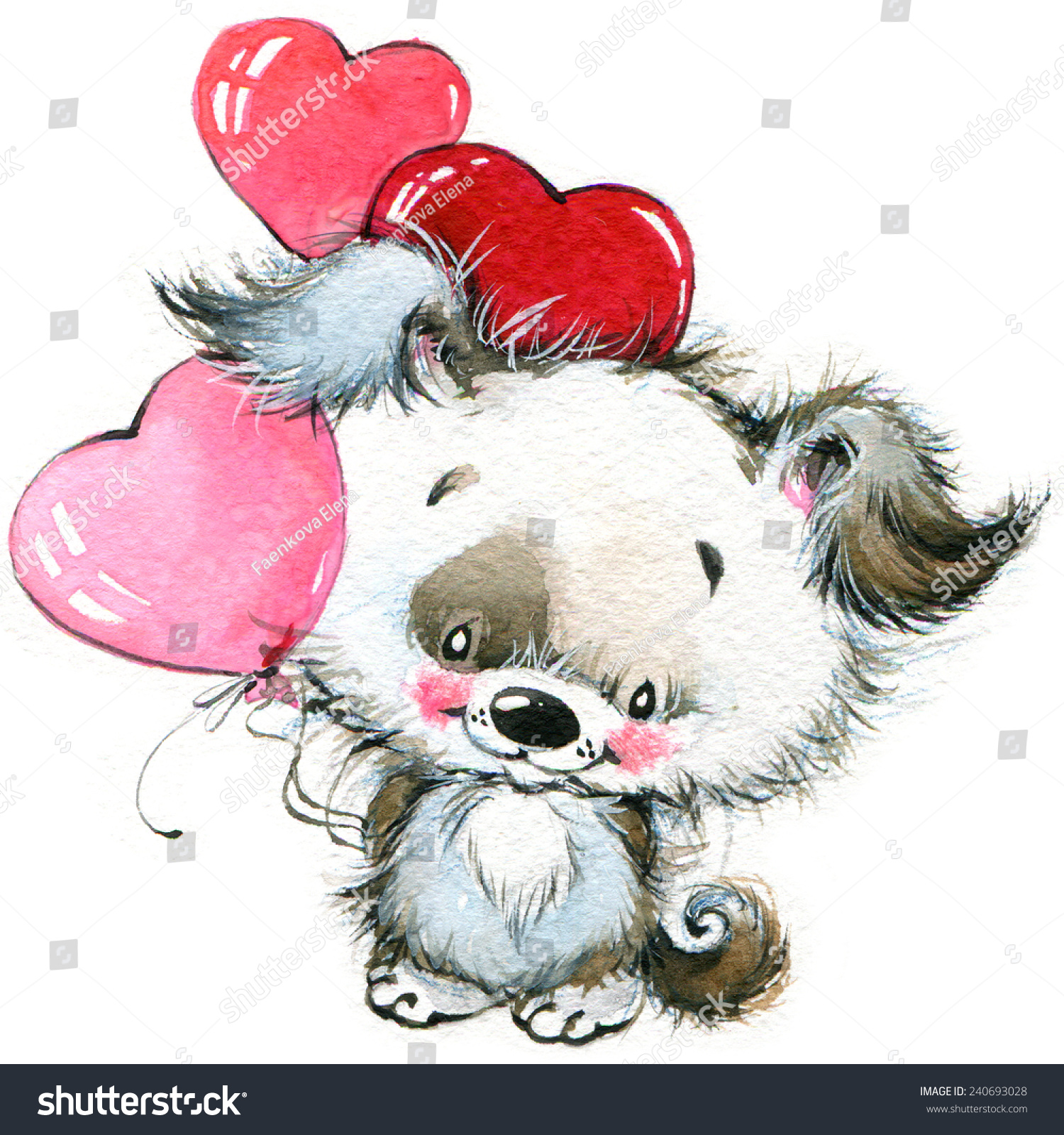 Valentines day cute animals loves heart stock illustration - Valentine s day animal pics ...