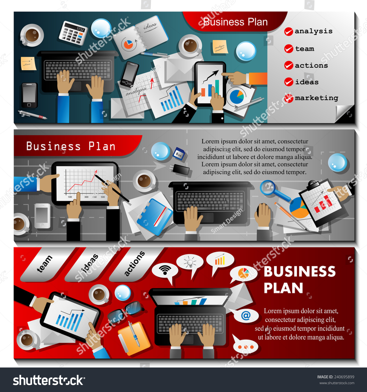 Business plan flyer template vector illustration stock - Business plan for web design company ...