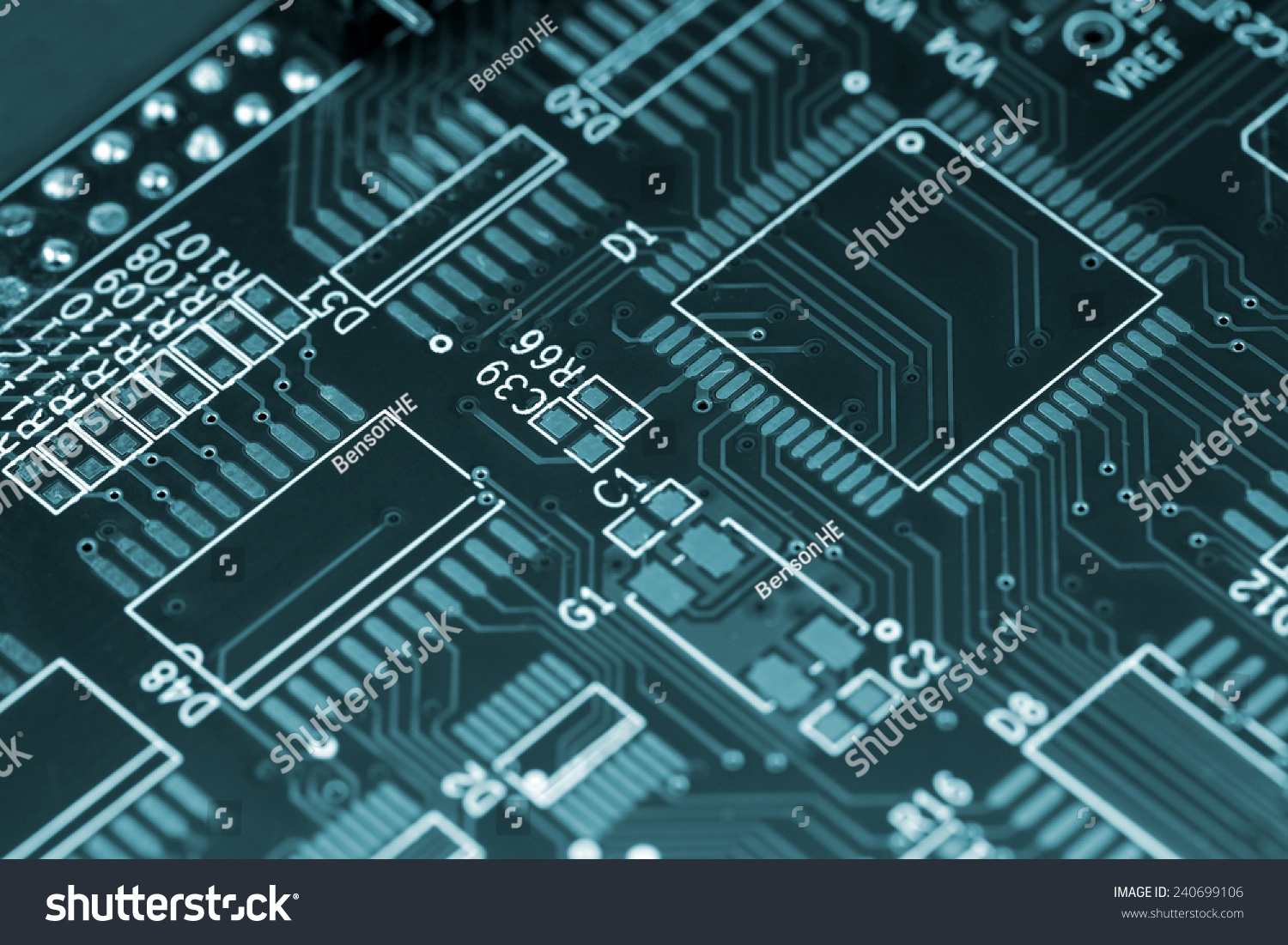 Closeup Shot Printed Wiring Board Mounting Stock Photo Edit Now Circuit Photos Images Pictures Shutterstock Of A With Positions For Large Scale Integrated Circuits