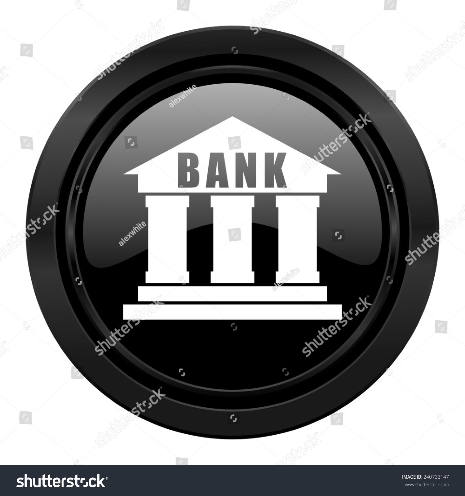 Bank Black Icon Stock Illustration 240733147 - Shutterstock