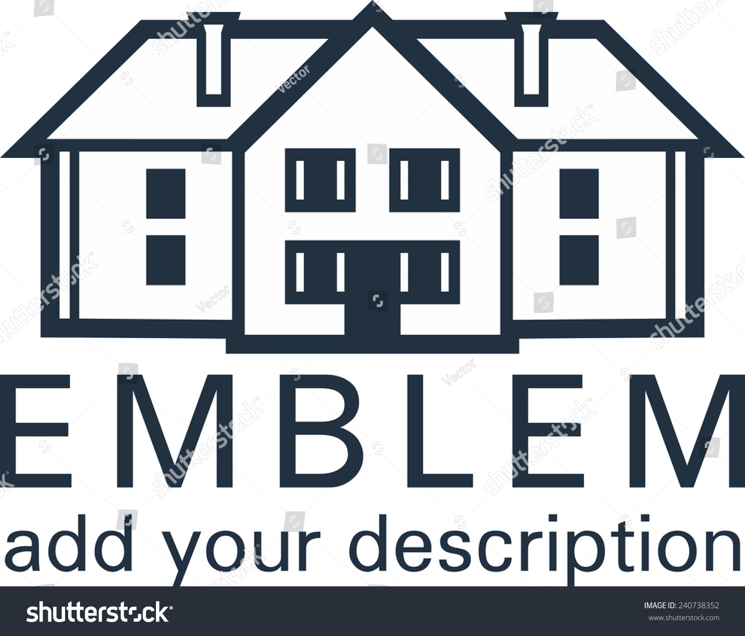 House Mansion Cottage Icon Logo Vector Isolated