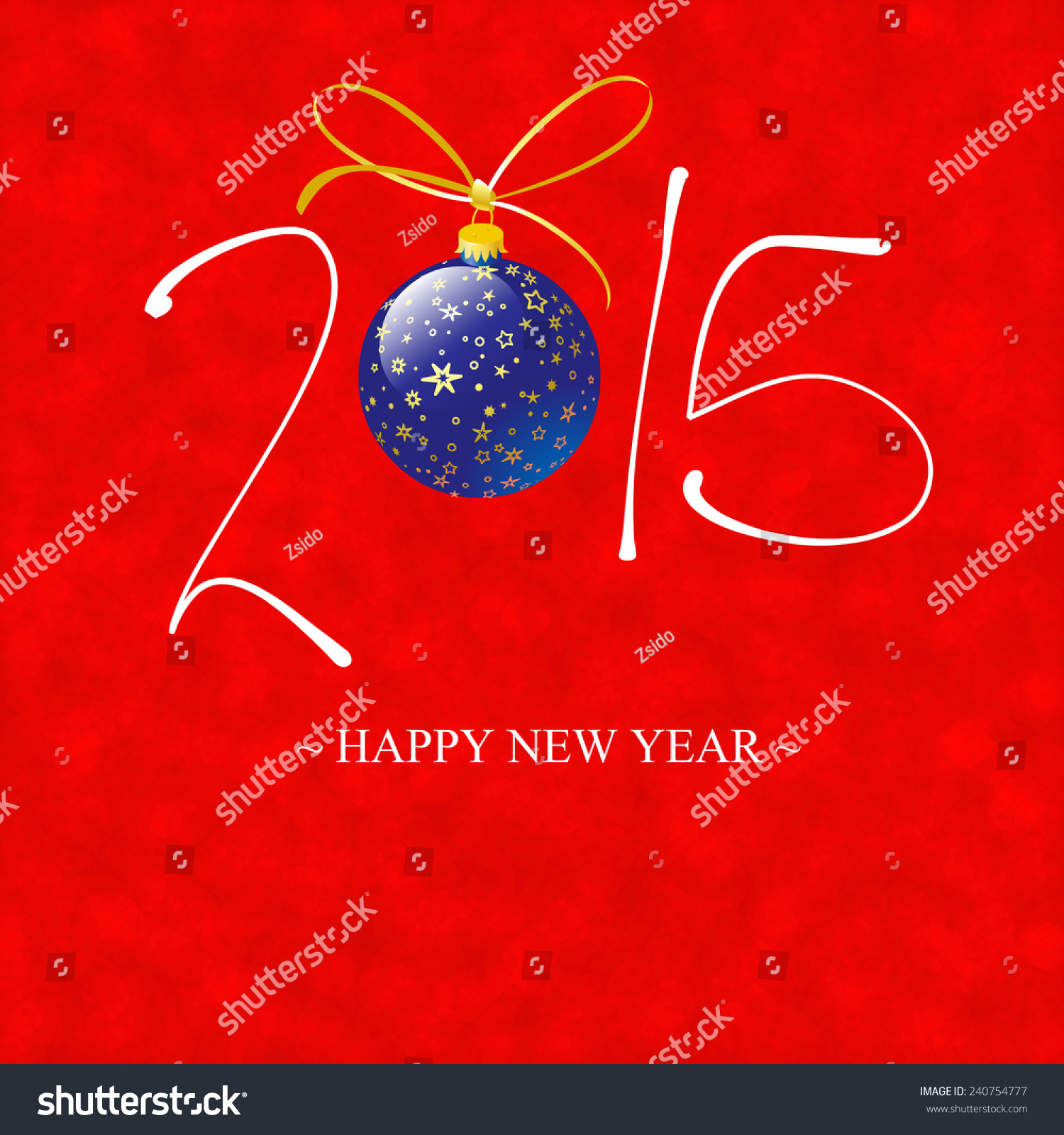 Happy New Year Card 2015 Illustration Stock Illustration Royalty