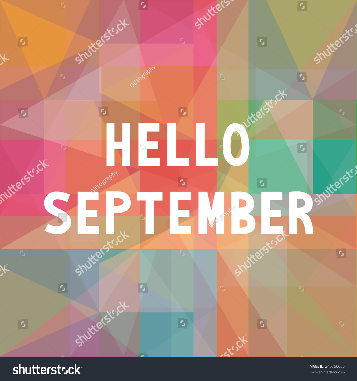 Hello September Card For Greeting. Positive Saying About The Working Week.