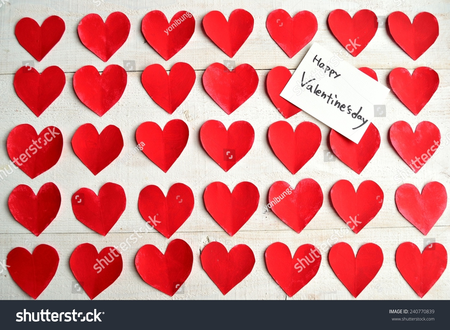 Valentines Day Message Card On Red Stock Photo 240770839