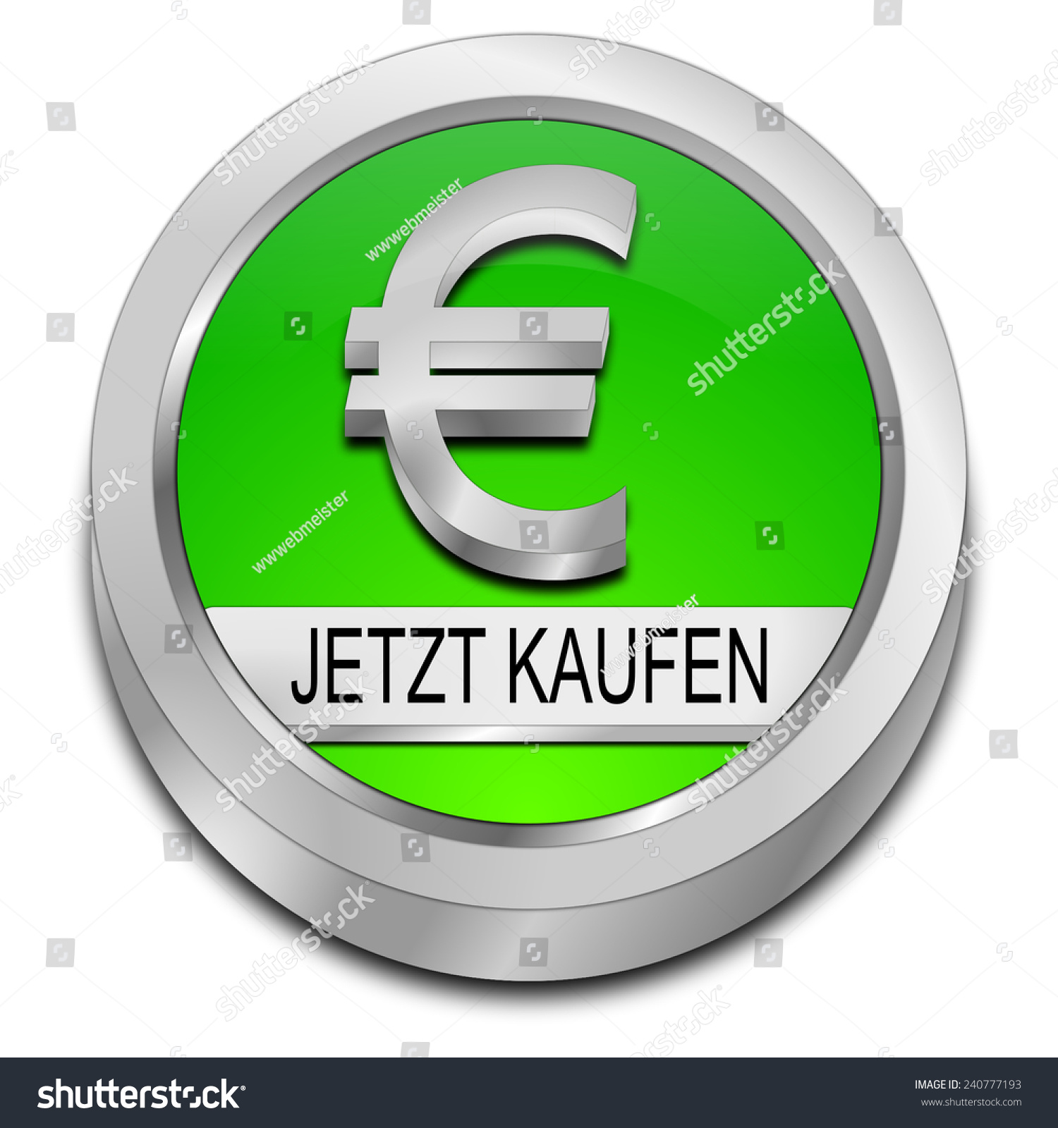 Buy Now Button Euro Symbol German Stock Illustration 240777193