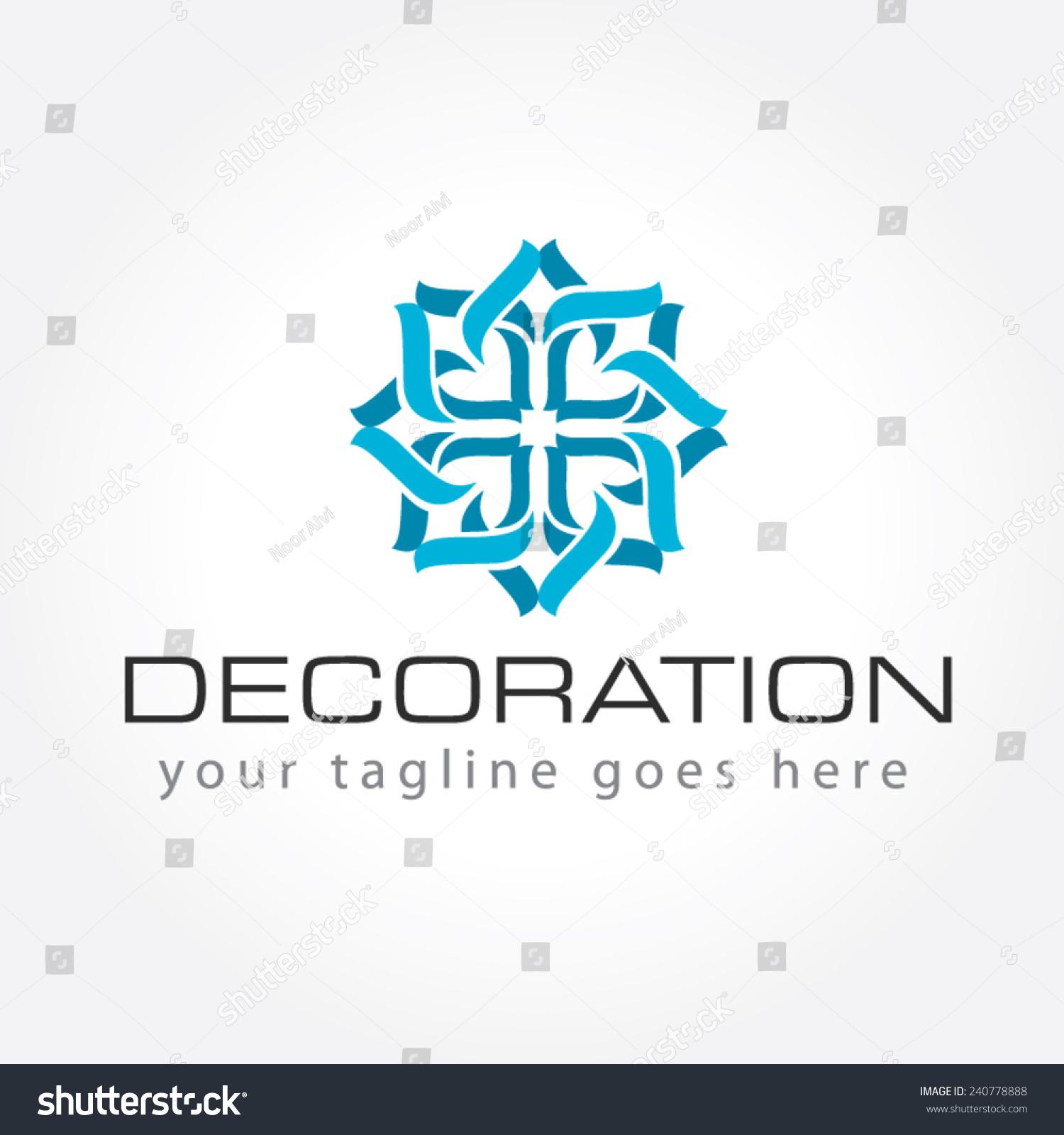 Decoration logo interior decoration logo stock vector for Decoration logo