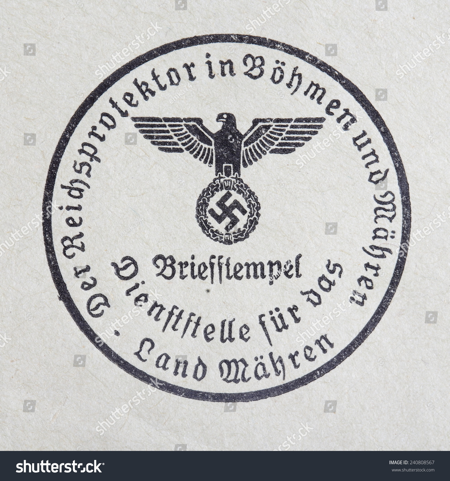 Germany circa 1944 nsdap real vintage stock photo 240808567 germany circa 1944 nsdap real vintage print from world war ii with symbol of buycottarizona Gallery