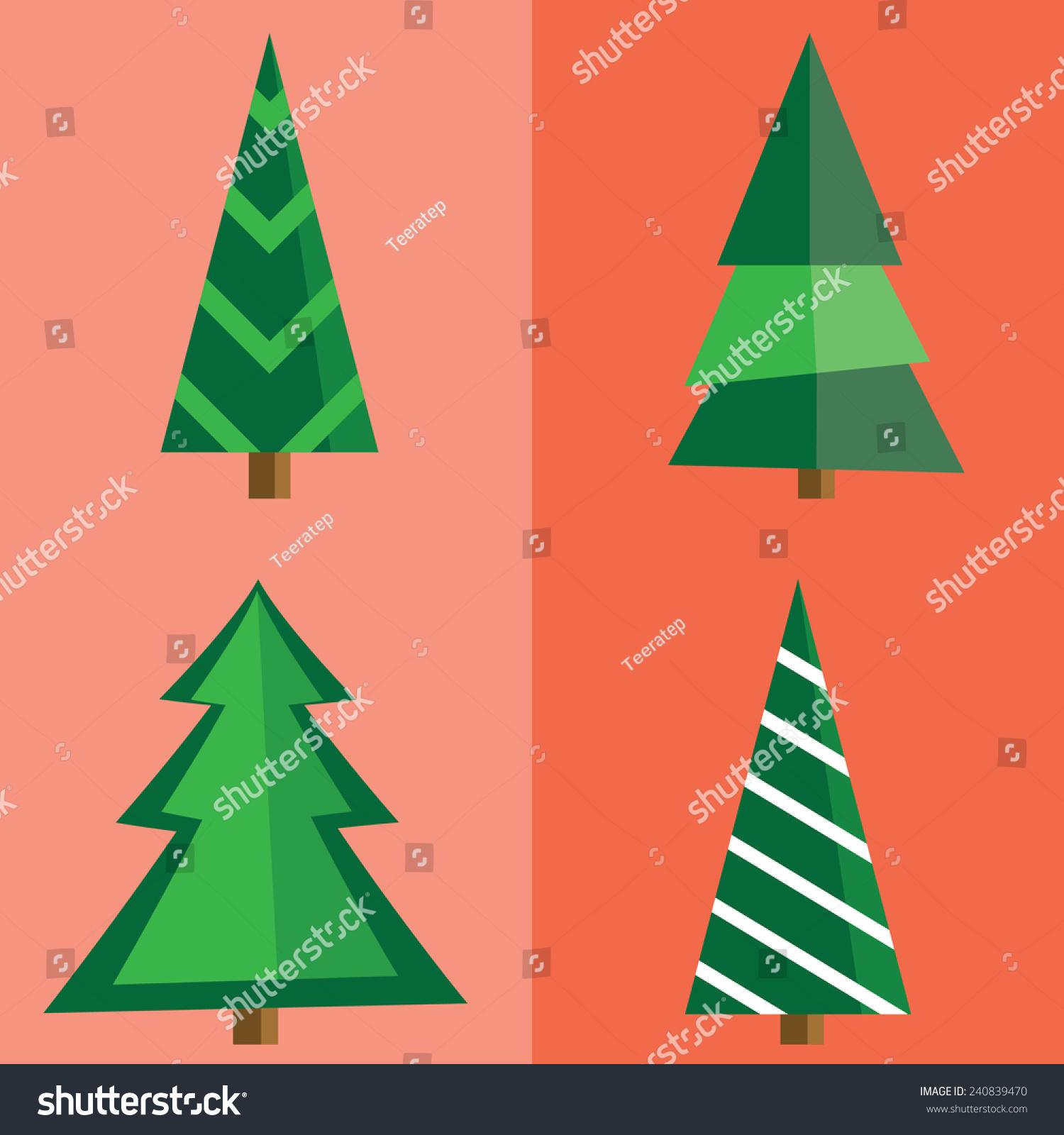 flat christmas tree set - Flat Christmas Tree