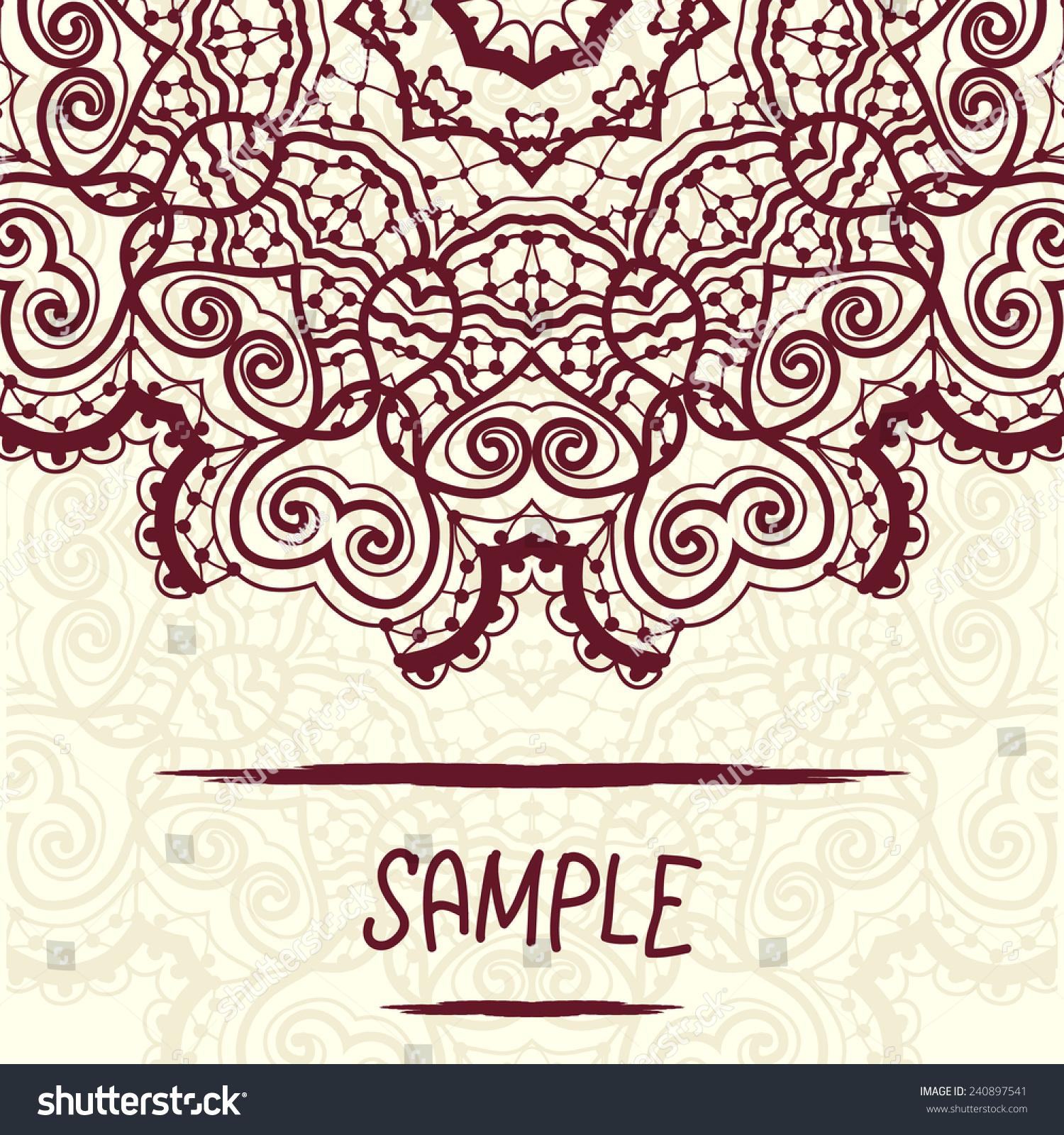 Mandala Design Copyspace Wedding Invitation Delicate Stock Photo ...