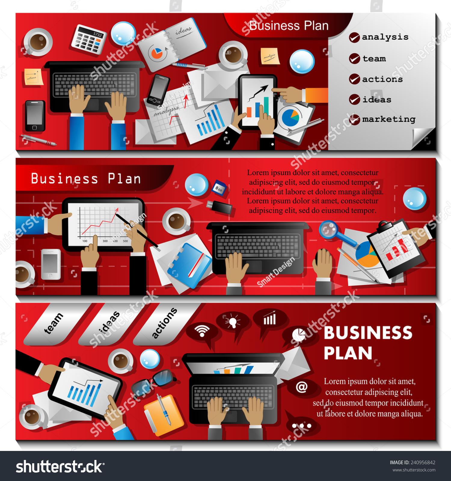 Business Plan Flyer Template Vector Illustration Stock Vector 240956842 Shutterstock