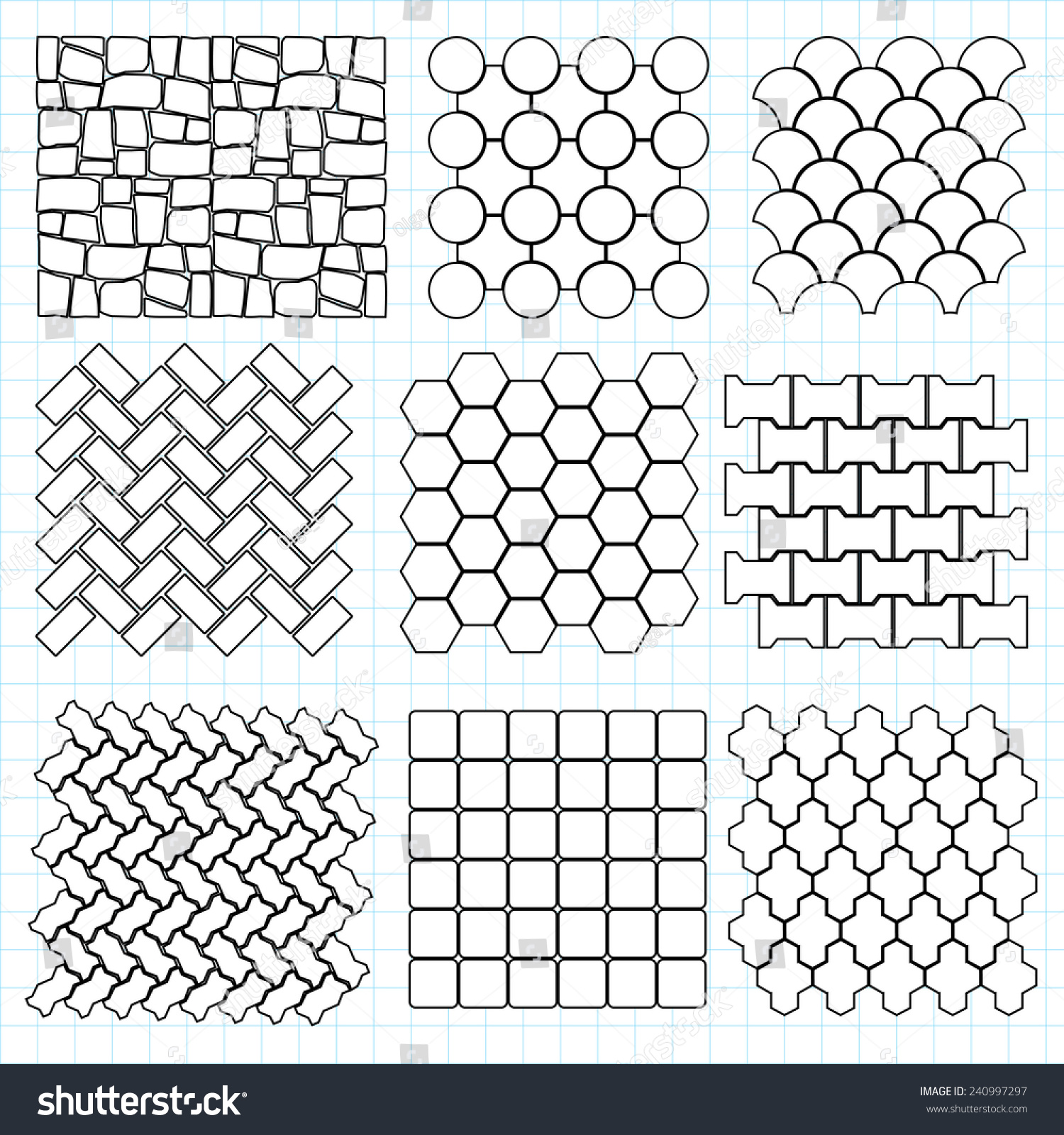 Paving stone landscape design elements make stock vector for Paving planner