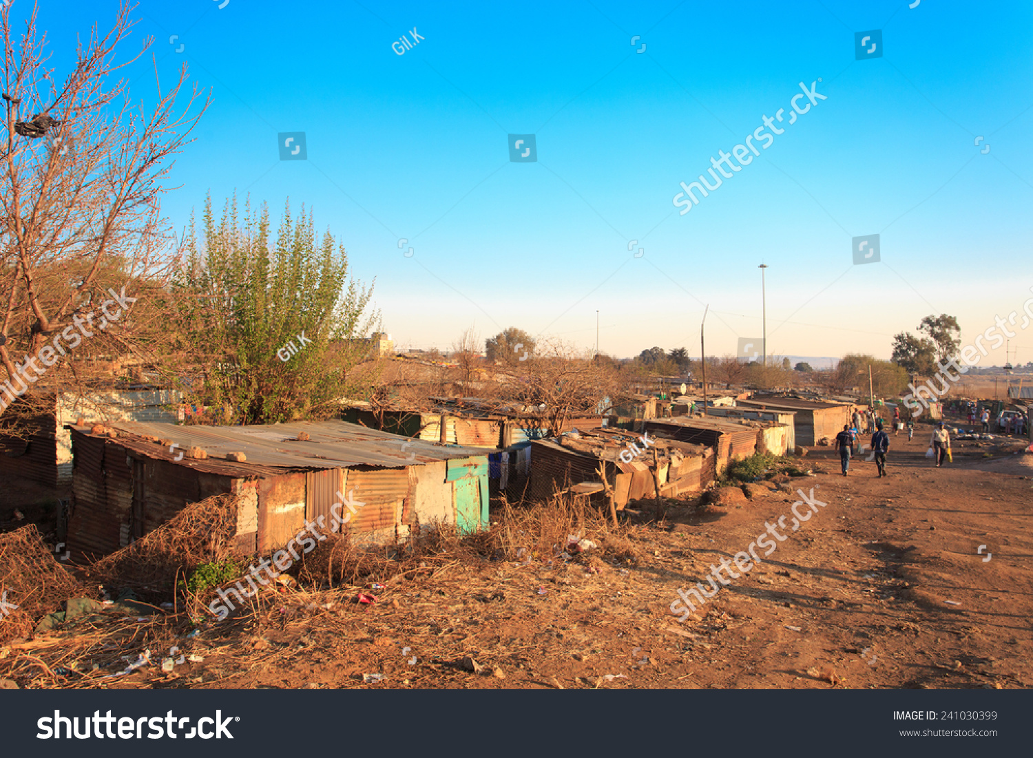 Poorest Part Soweto South West Township Stock Photo - Poorest part of africa