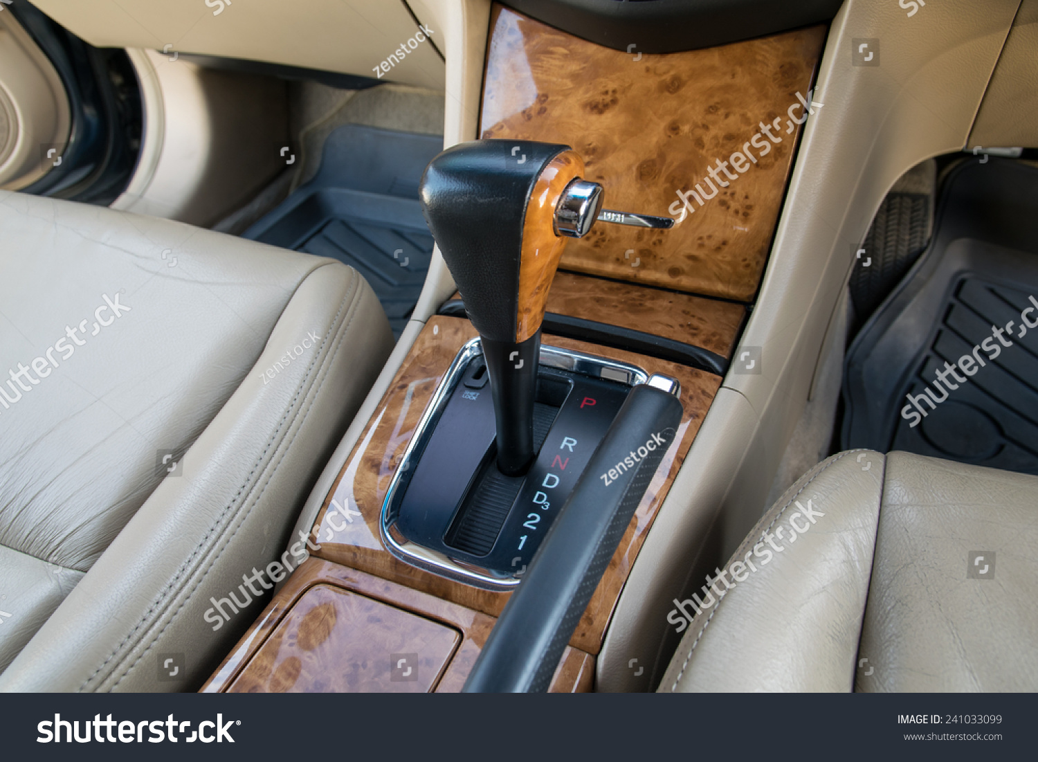Car interior decorate wood automatic transmission stock photo 241033099 shutterstock for How to decorate your car interior