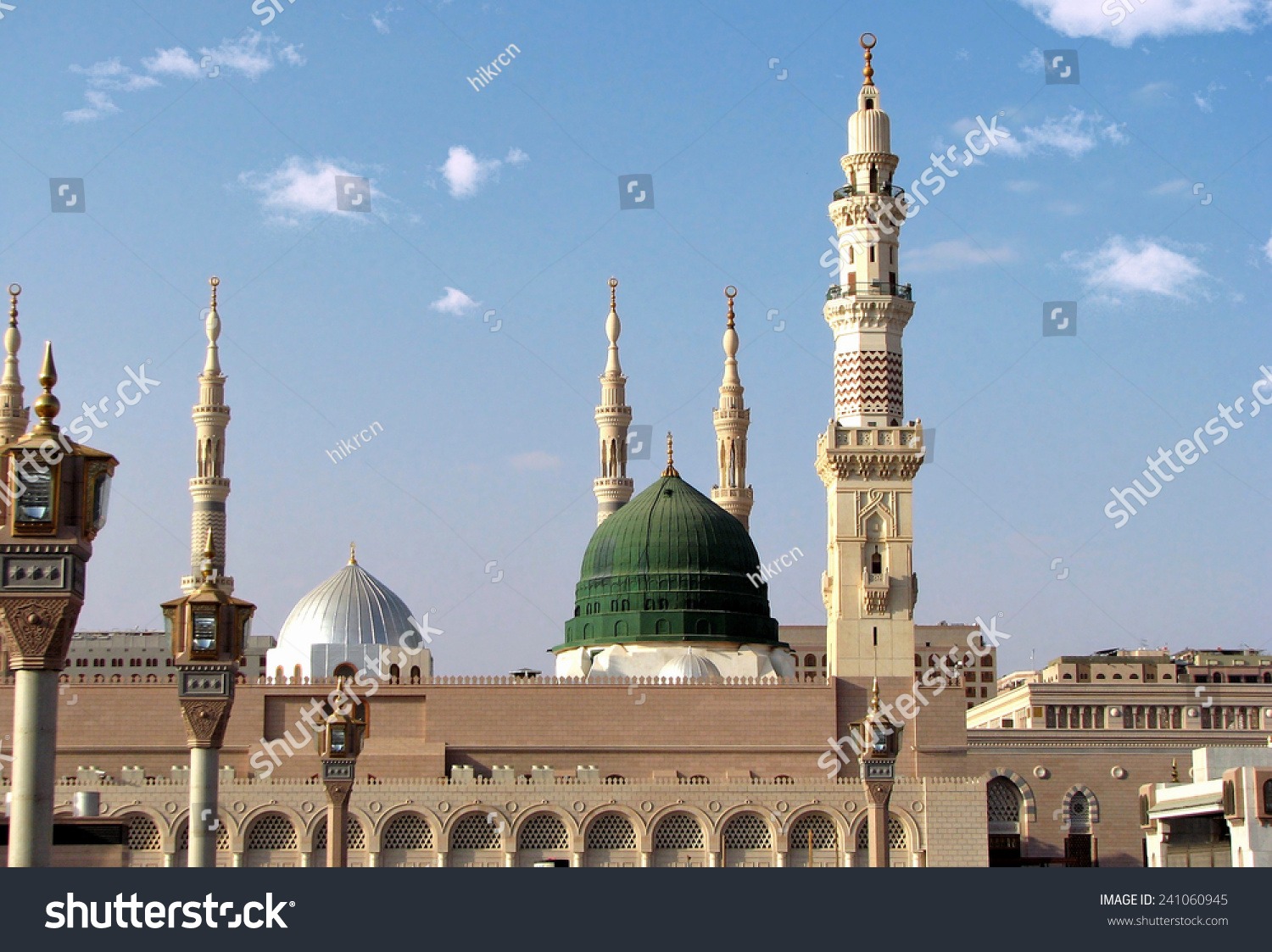 Masjid Al Nabawi Nabawi Mosque Mosque Stock Photo ...