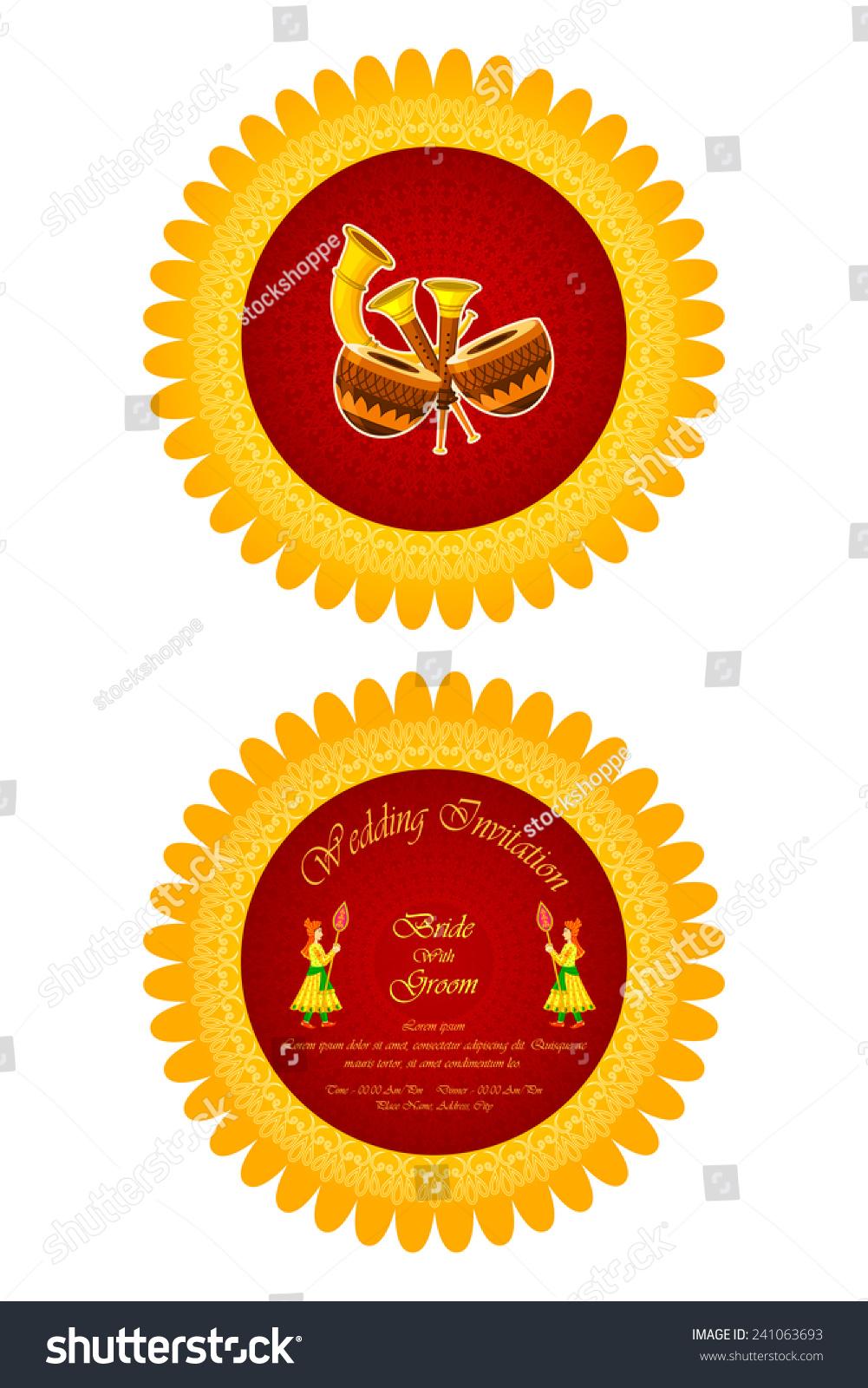 The best wedding invitation blog: Indian wedding invitations vector
