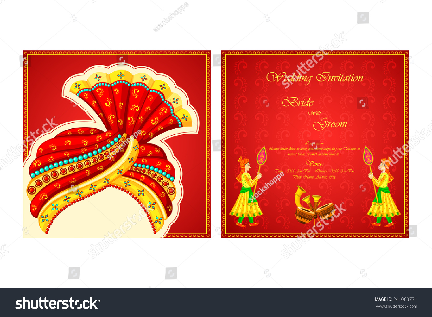 The best wedding invitation blog: Indian wedding invitations vector